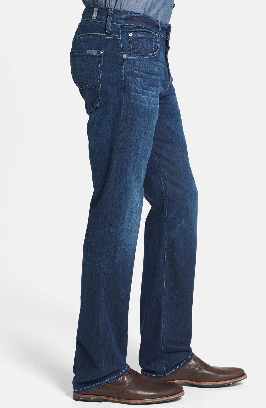 Alternate Image 3  - 7 For All Mankind® 'Carsen - Luxe Performance' Straight Leg Jeans (Venice Waters)