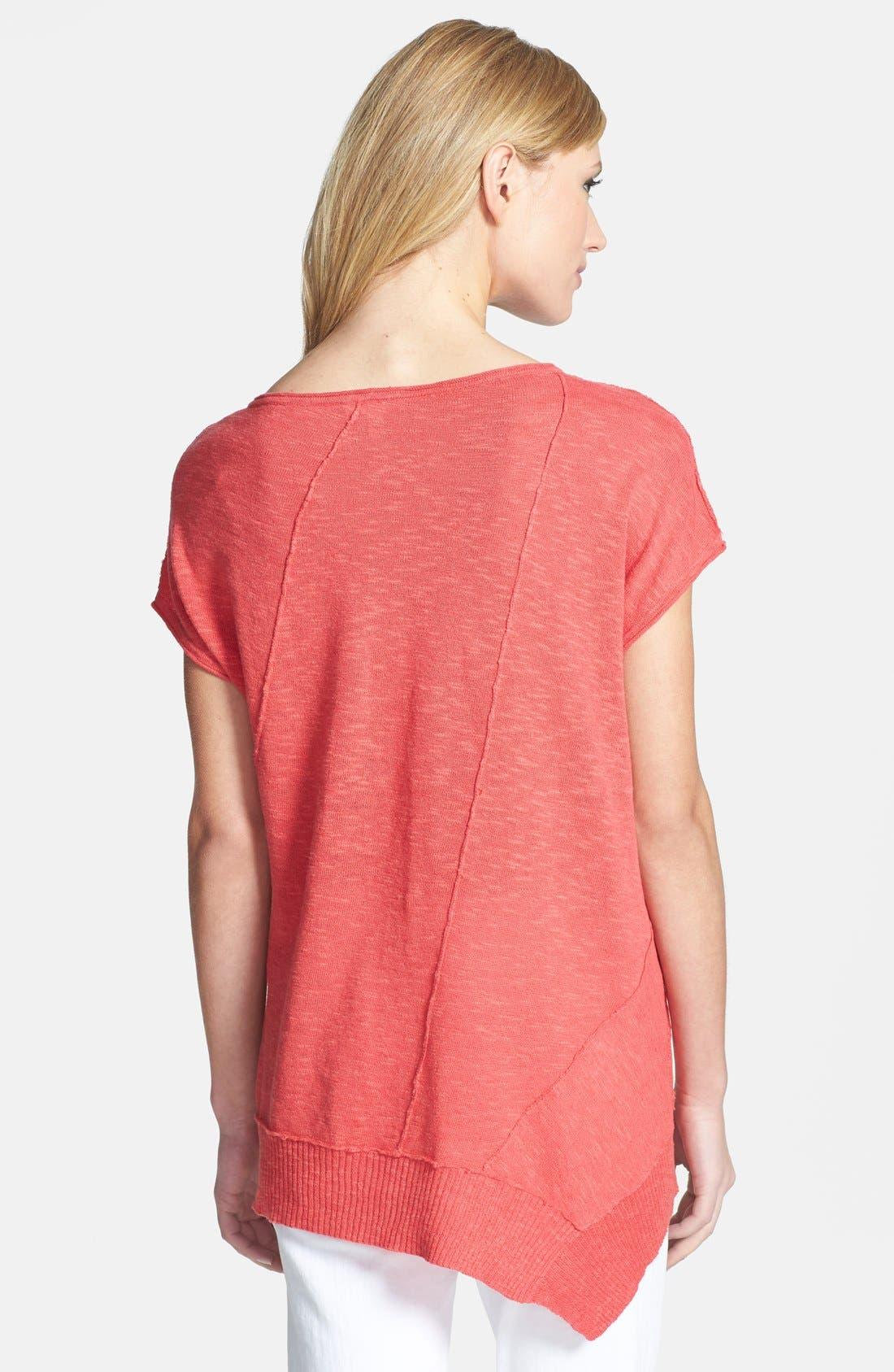 Alternate Image 2  - Eileen Fisher Cap Sleeve Organic Linen & Cotton Scoop Neck Top (Regular & Petite)