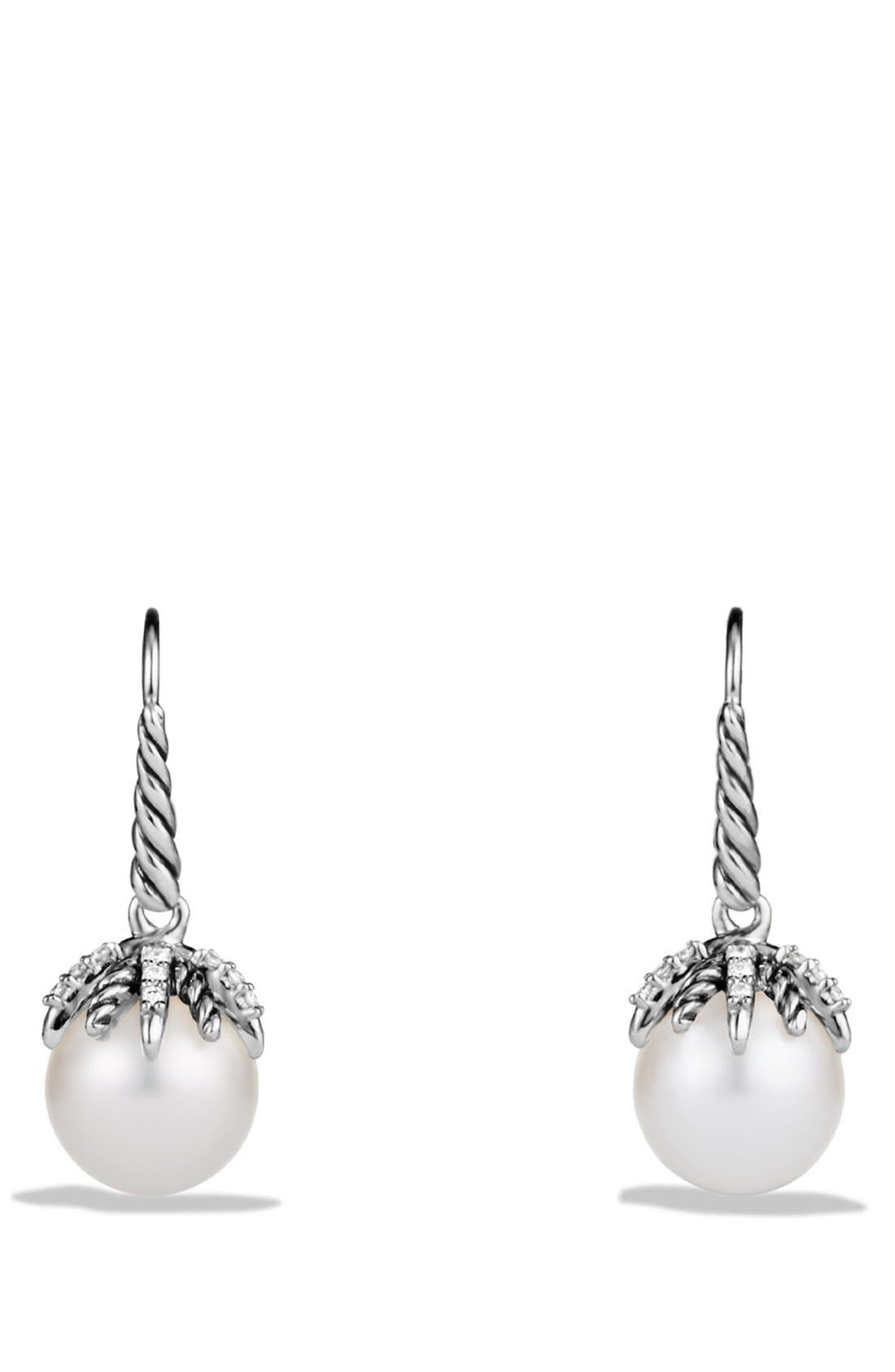 David Yurman 'Starburst' Earrings with Pearls and Diamonds