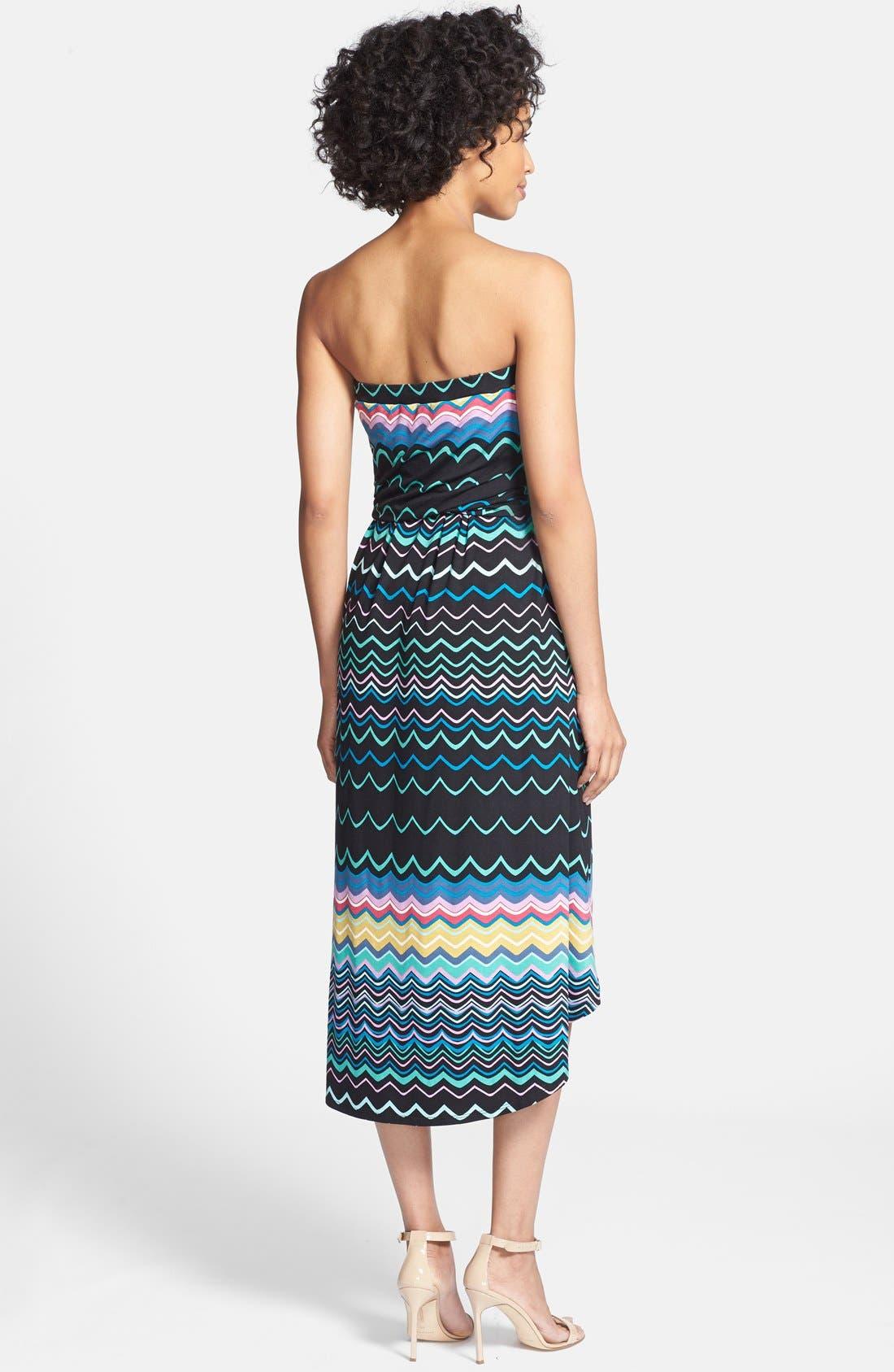 Alternate Image 2  - Felicity & Coco Strapless Blouson Jersey Dress (Regular & Petite) (Nordstrom Exclusive)
