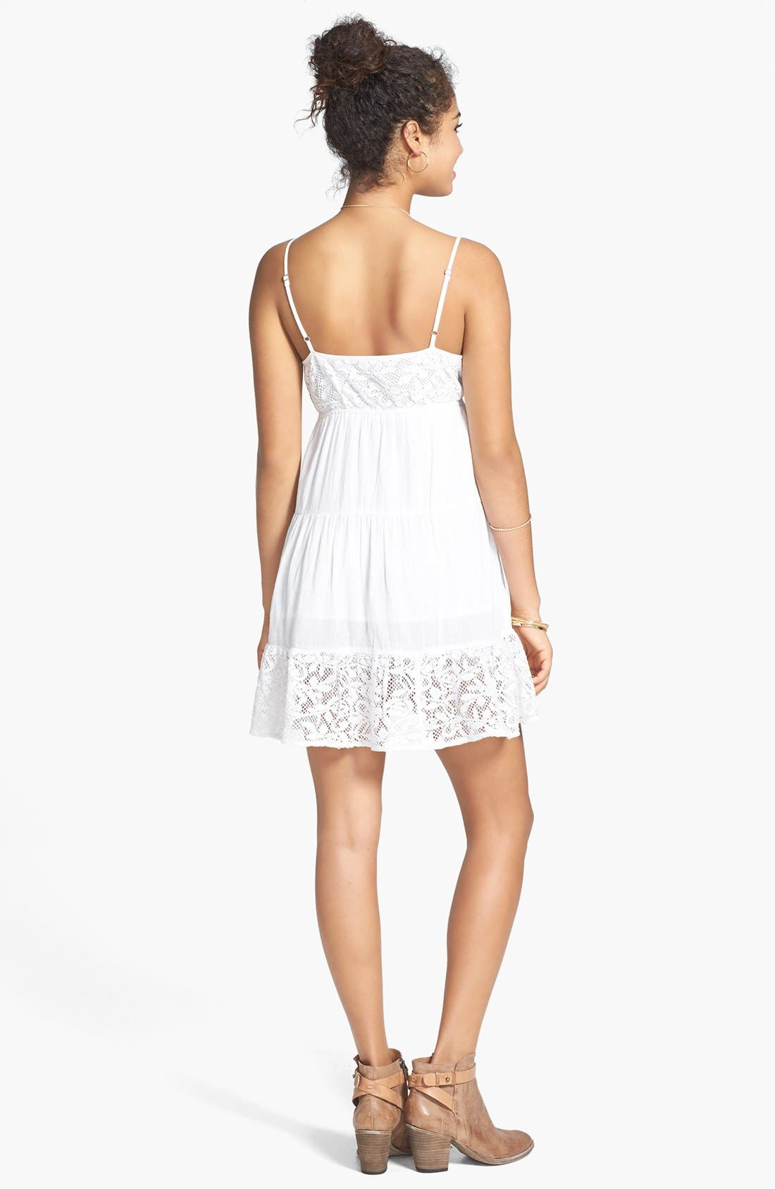Alternate Image 2  - Rip Curl 'Dreamweave' Lace Inset Tiered Dress (Juniors)