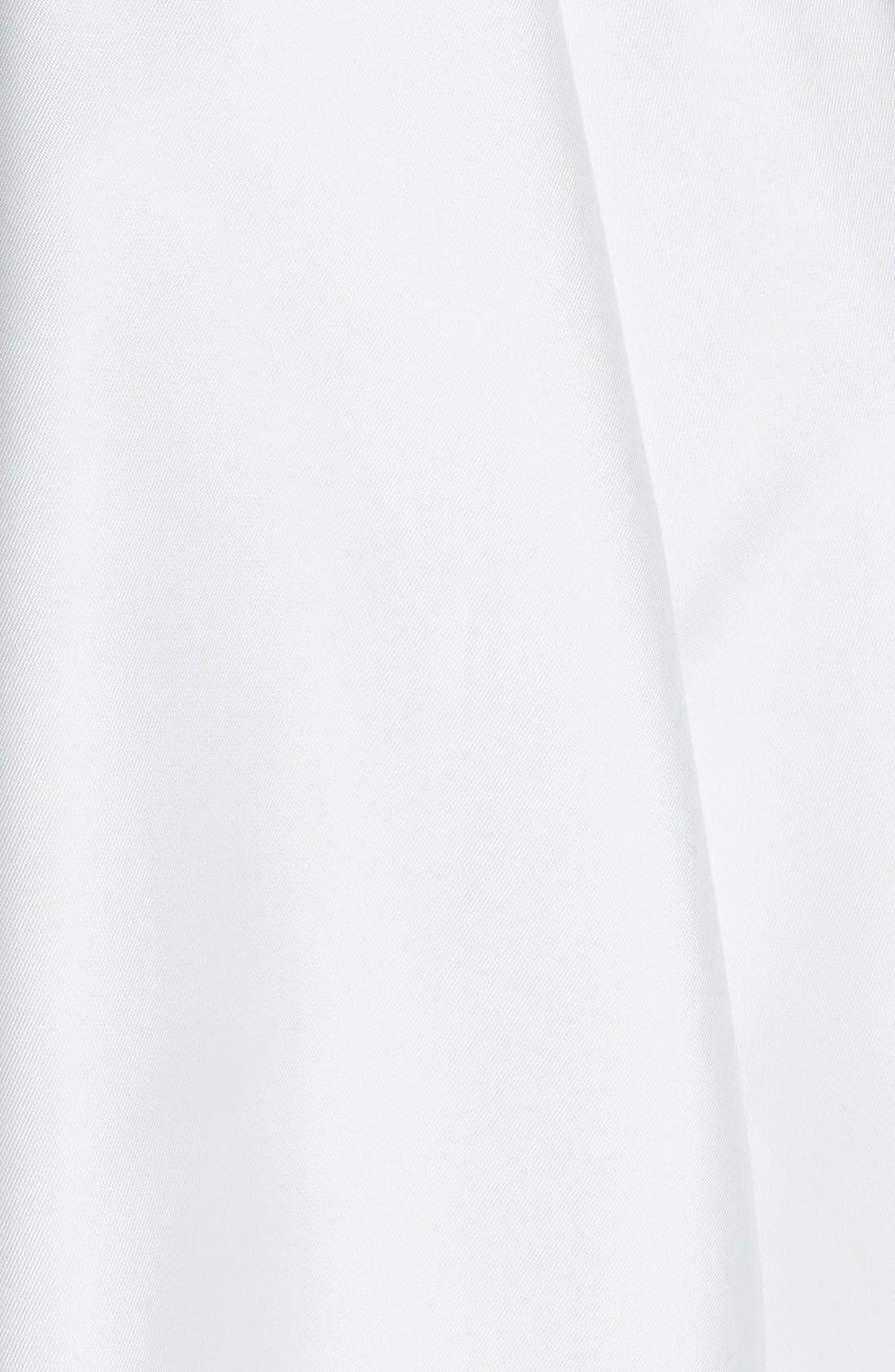 Mikado A-Line Dress,                             Alternate thumbnail 4, color,                             Ivory