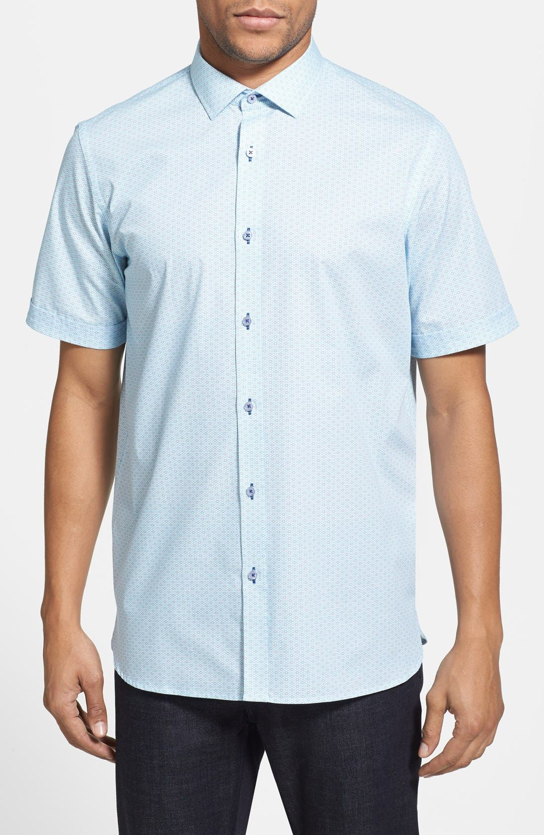 Alternate Image 1 Selected - Report Collection Trim Fit Short Sleeve Sport Shirt