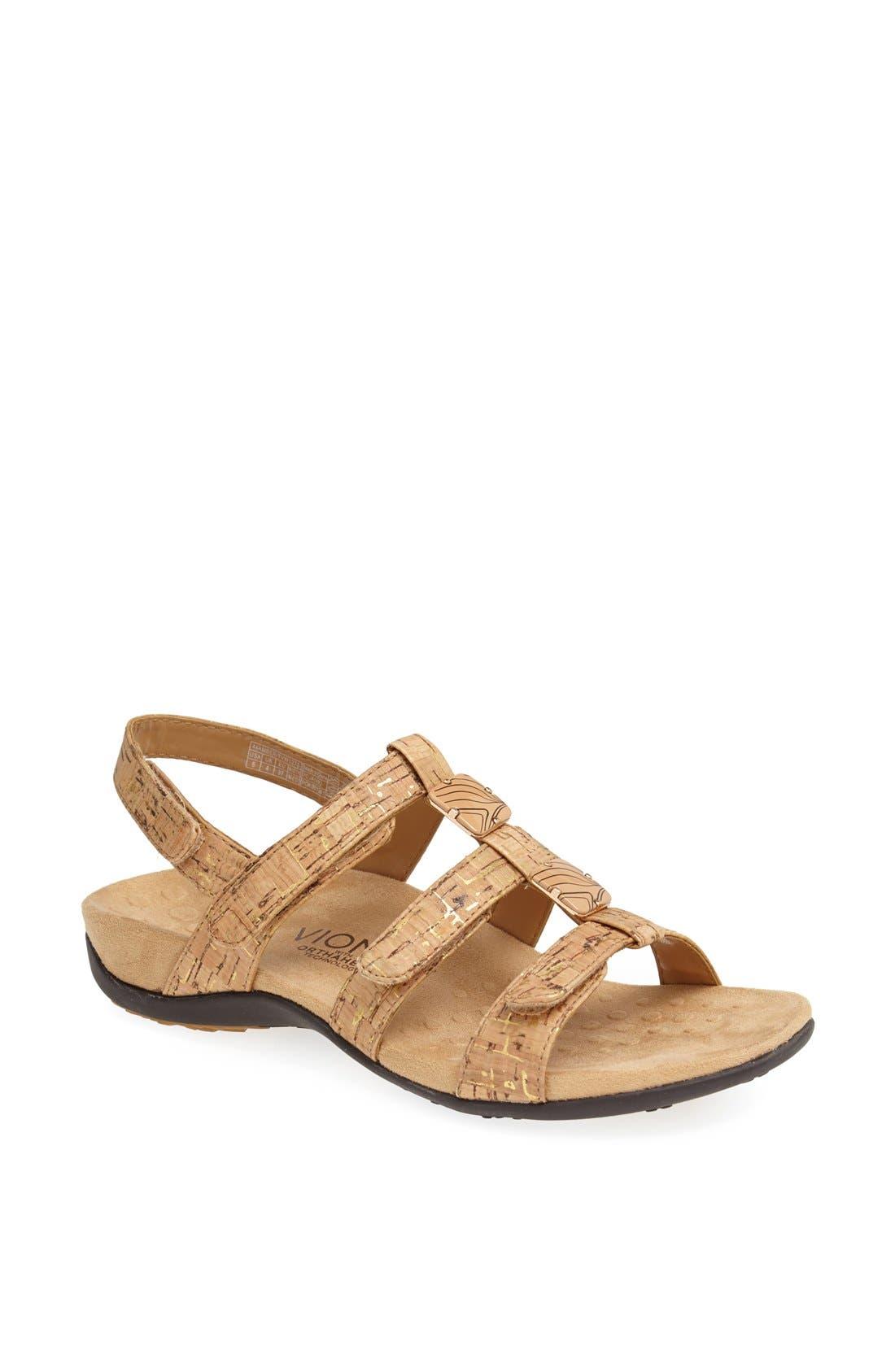 VIONIC Amber with Orthaheel<sup>®</sup> Technology Adjustable Sandal