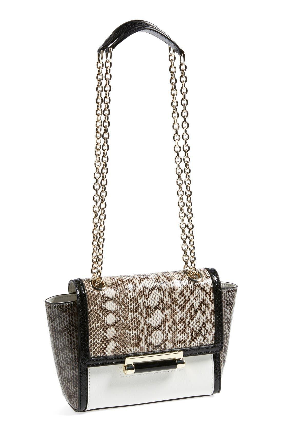 Alternate Image 1 Selected - Diane Von Furstenberg '440 - Mini' Genuine Snakeskin & Leather Crossbody Bag