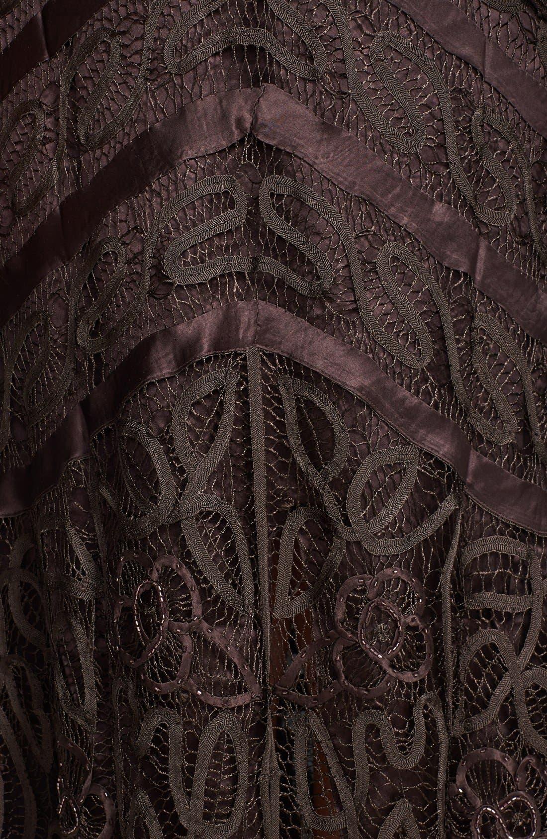 Alternate Image 4  - Soulmates Bead Crochet Dress & Jacket (Plus)