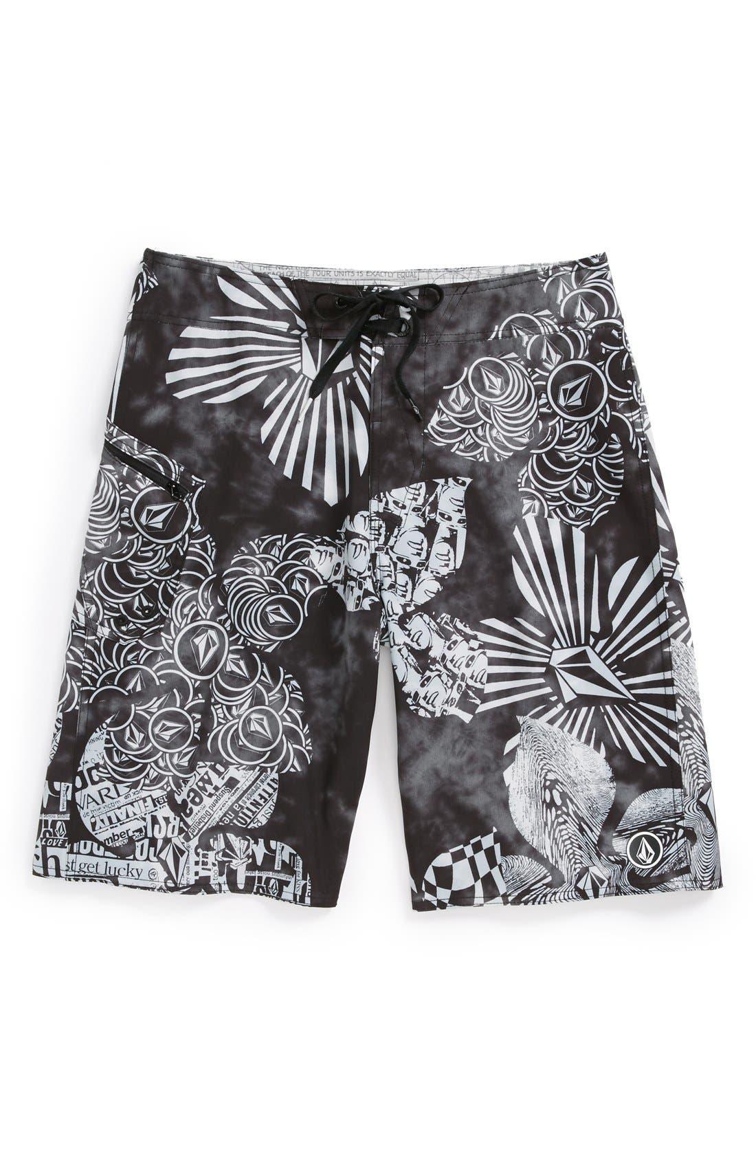 Alternate Image 1 Selected - Volcom 'Lido Weedo' Board Shorts (Little Boys & Big Boys)