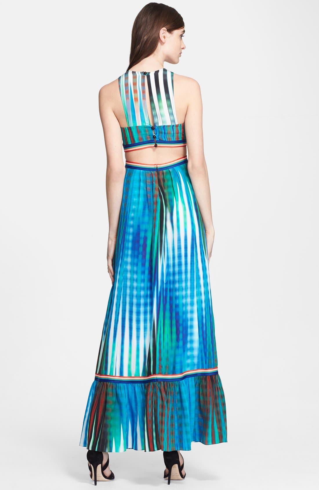 Alternate Image 2  - Tracy Reese Cutout Print Silk Maxi Dress