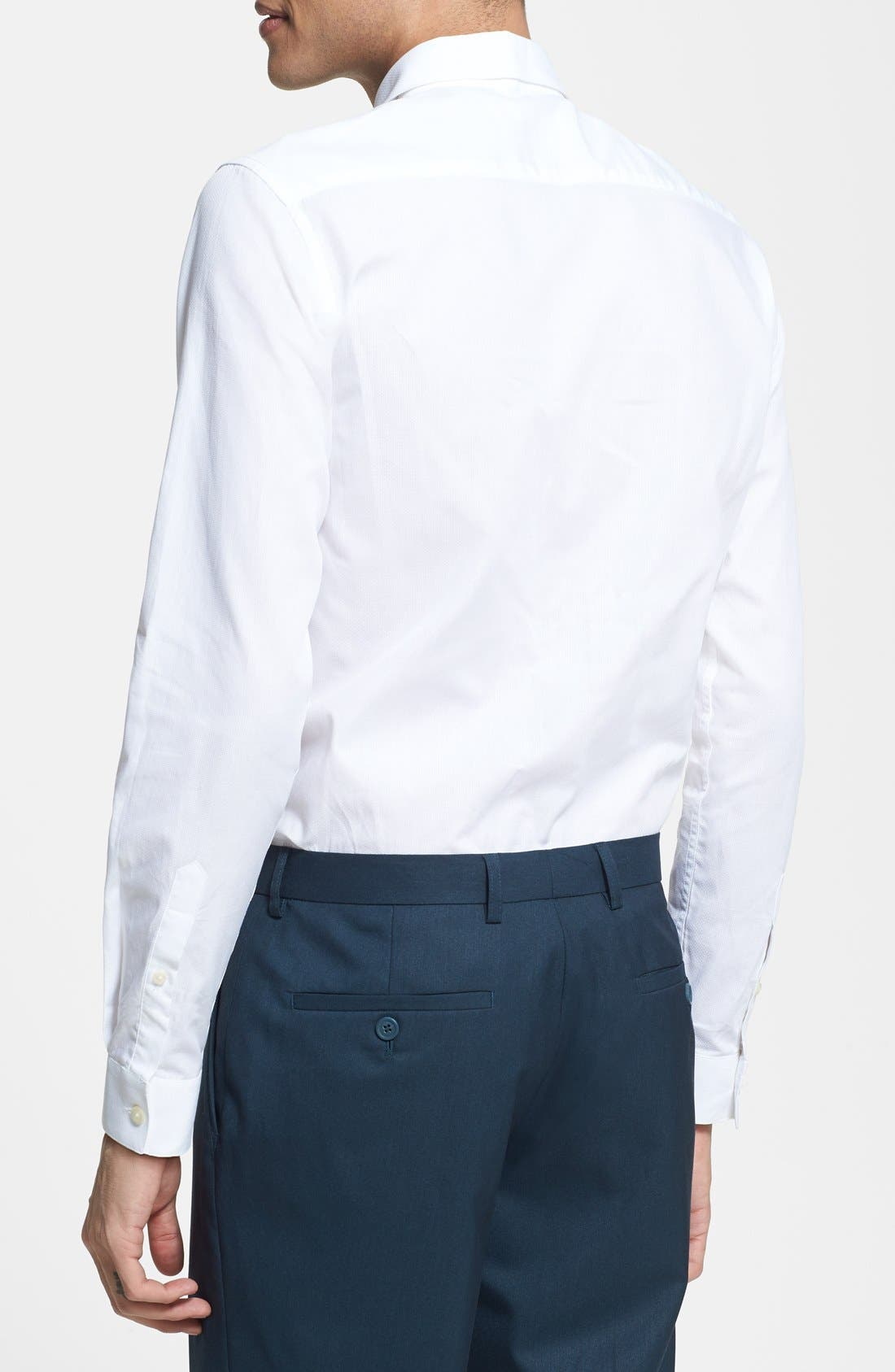 Alternate Image 3  - Topman Slim Fit Textured Cotton Dress Shirt