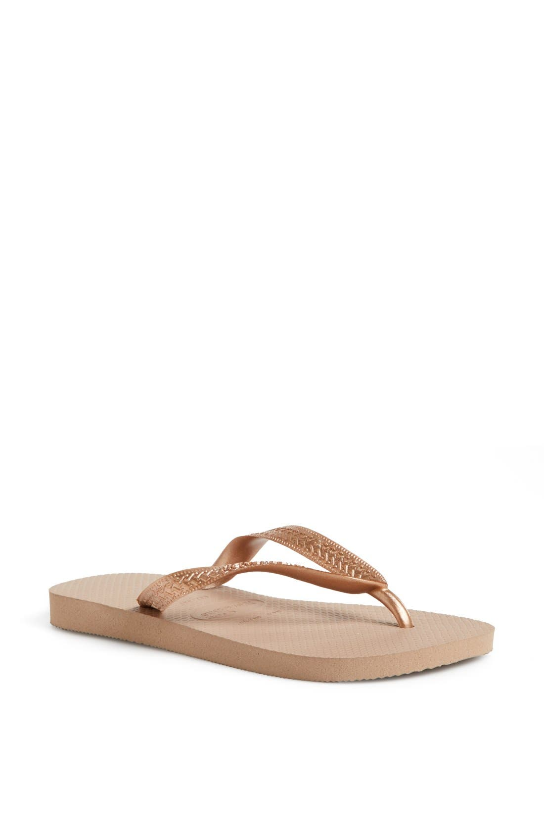 Alternate Image 1 Selected - Havaianas 'Metallic Top' Thong Sandal (Women)