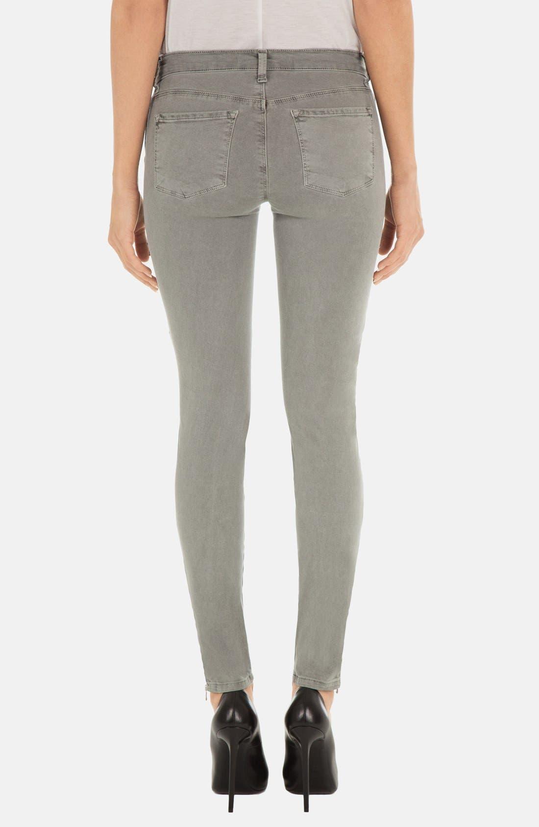 Alternate Image 2  - J Brand 'Kassidy' Skinny Jeans (Vintage Olive)