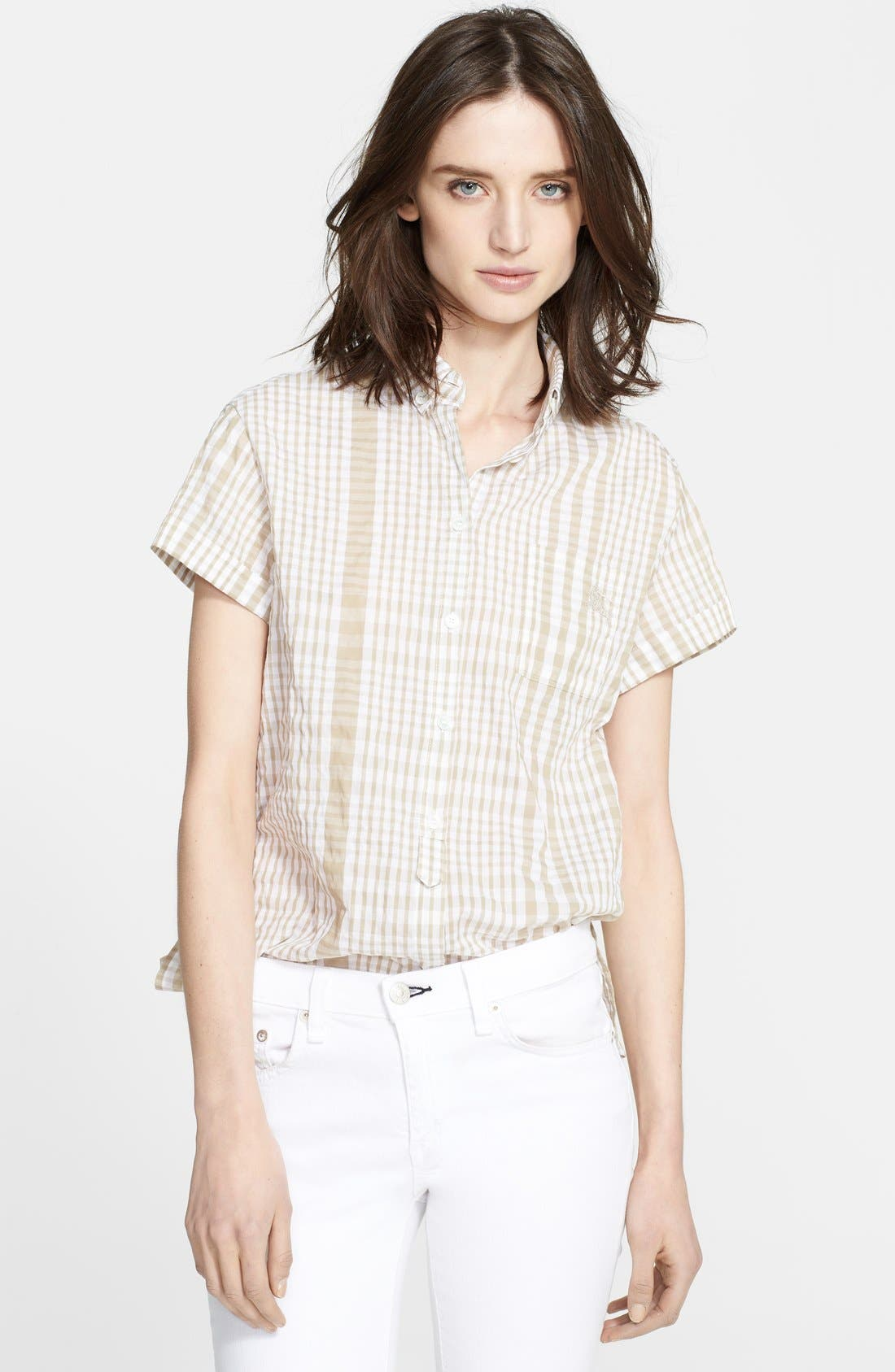 Main Image - Burberry Brit Puckered Plaid Shirt