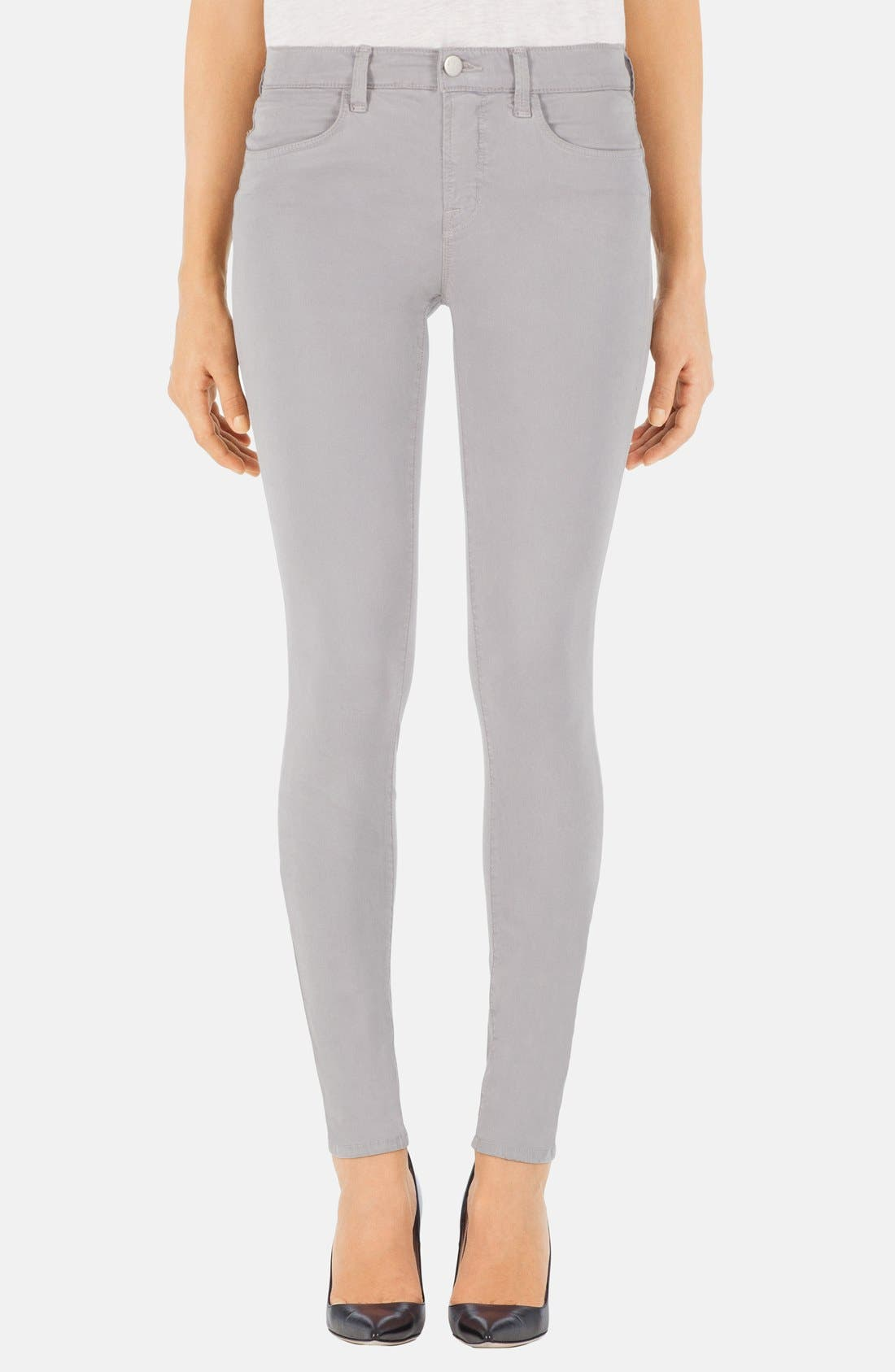 Alternate Image 1 Selected - J Brand '485' Mid Rise Super Skinny Jeans (Limestone)