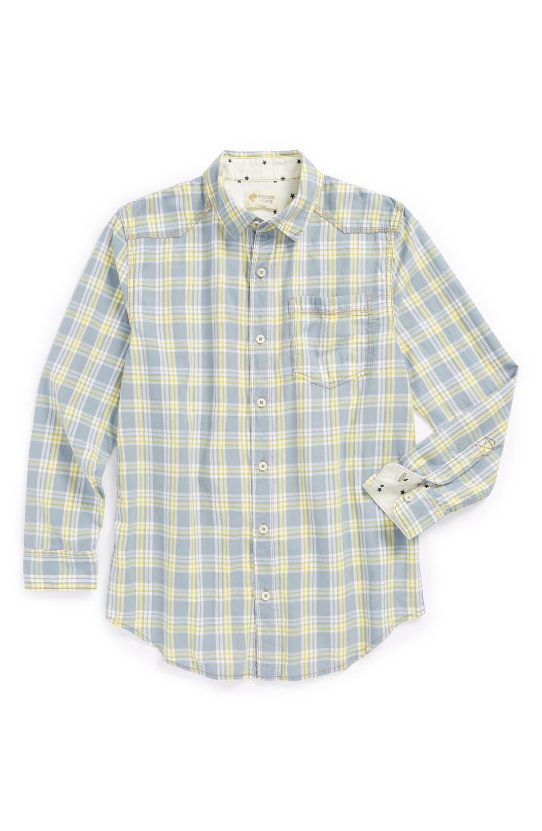 Main Image - Tucker + Tate 'Conrad' Plaid Shirt (Big Boys)