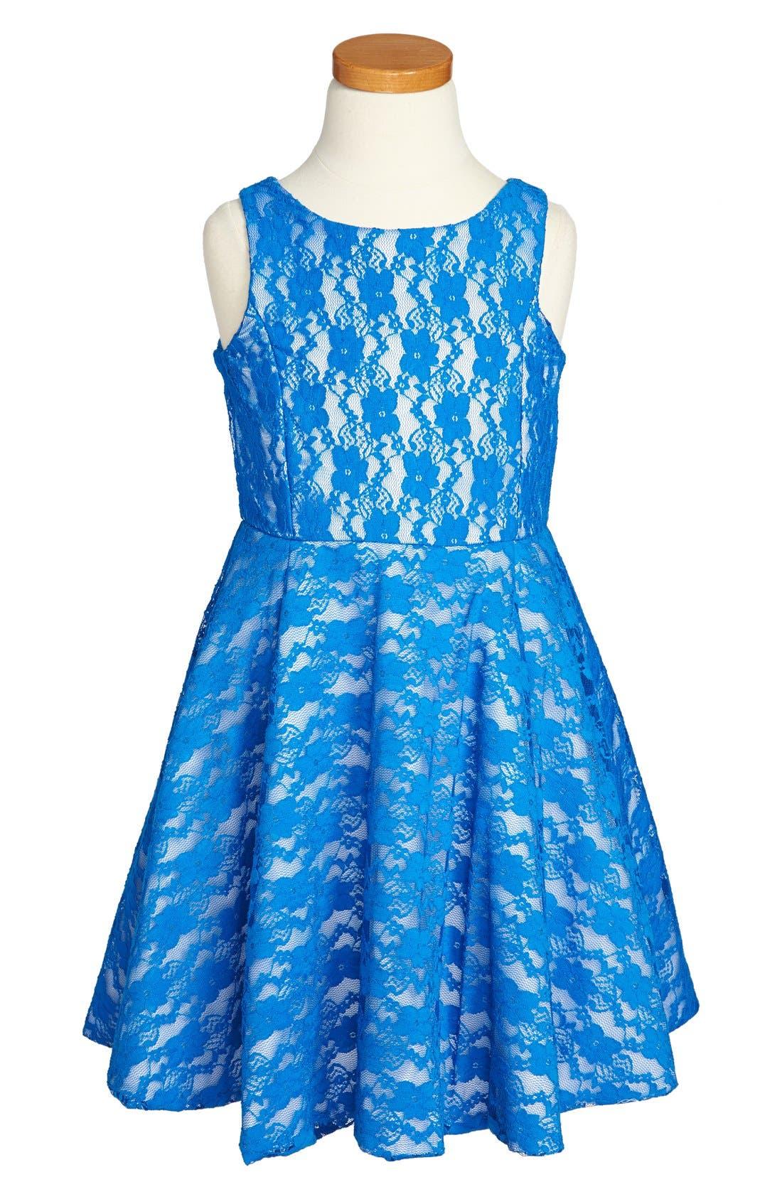 Main Image - turó parc Lace Skater Dress (Little Girls)