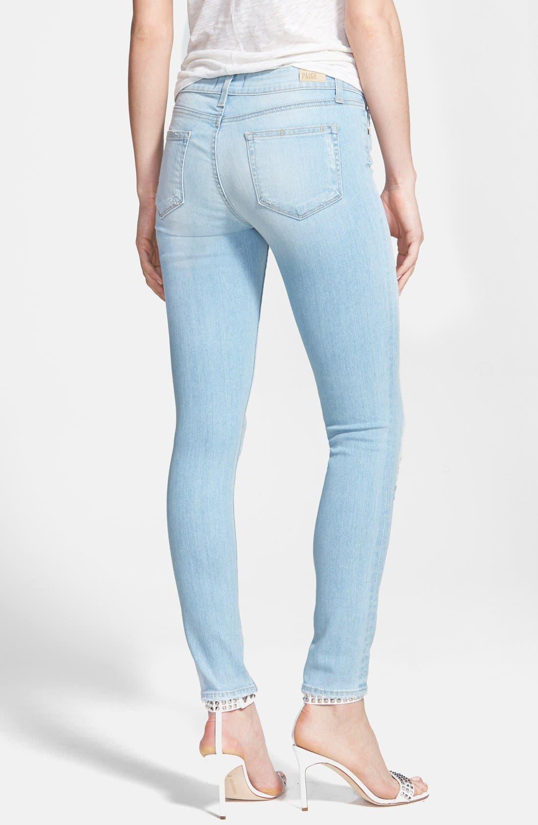 Alternate Image 2  - Paige Denim 'Verdugo' Destroyed Crop Skinny Jeans (Naomi Destructed)