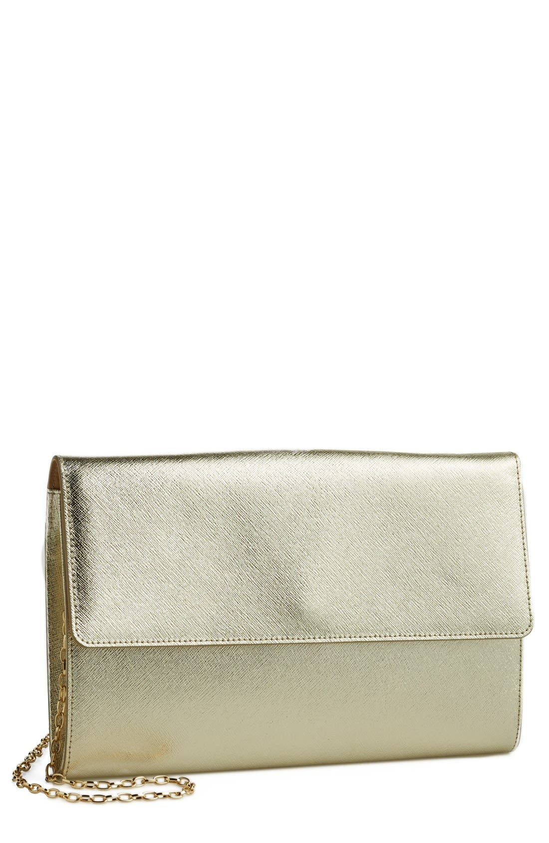Main Image - Halogen® Saffiano Leather Day Clutch