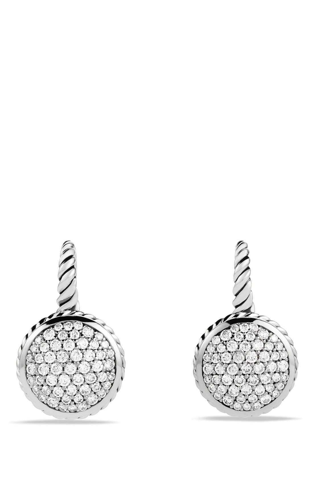 Alternate Image 1 Selected - David Yurman Pavé Drop Earrings with Diamonds
