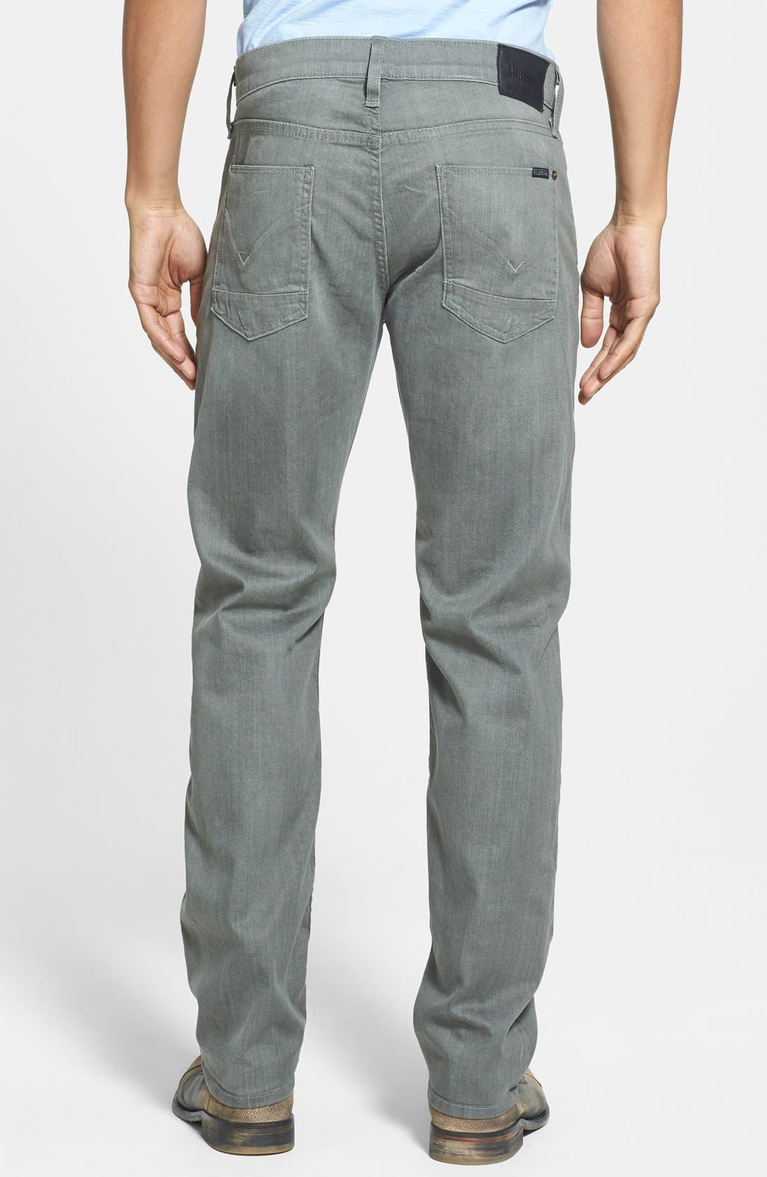 Alternate Image 2  - Hudson Jeans 'Byron' Straight Leg Jeans (Olive Vintage)
