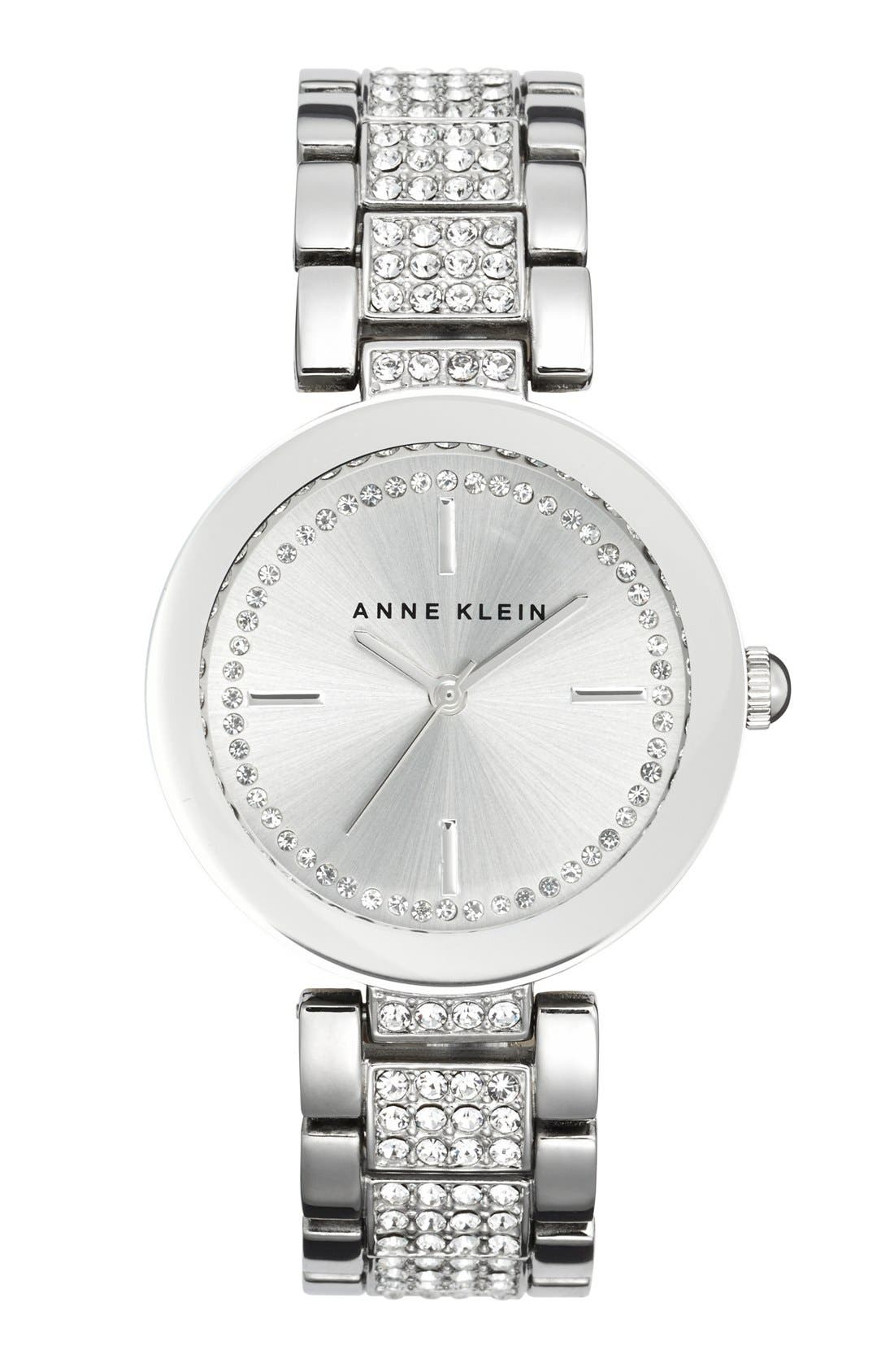 Alternate Image 1 Selected - Anne Klein Pavé Crystal Bracelet Watch, 32mm