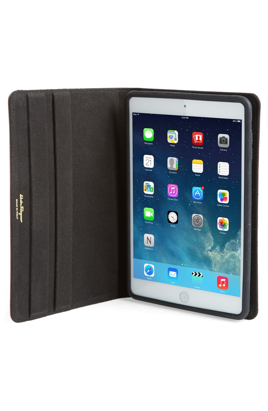 Alternate Image 3  - Salvatore Ferragamo 'Gancini' Leather iPad mini Case