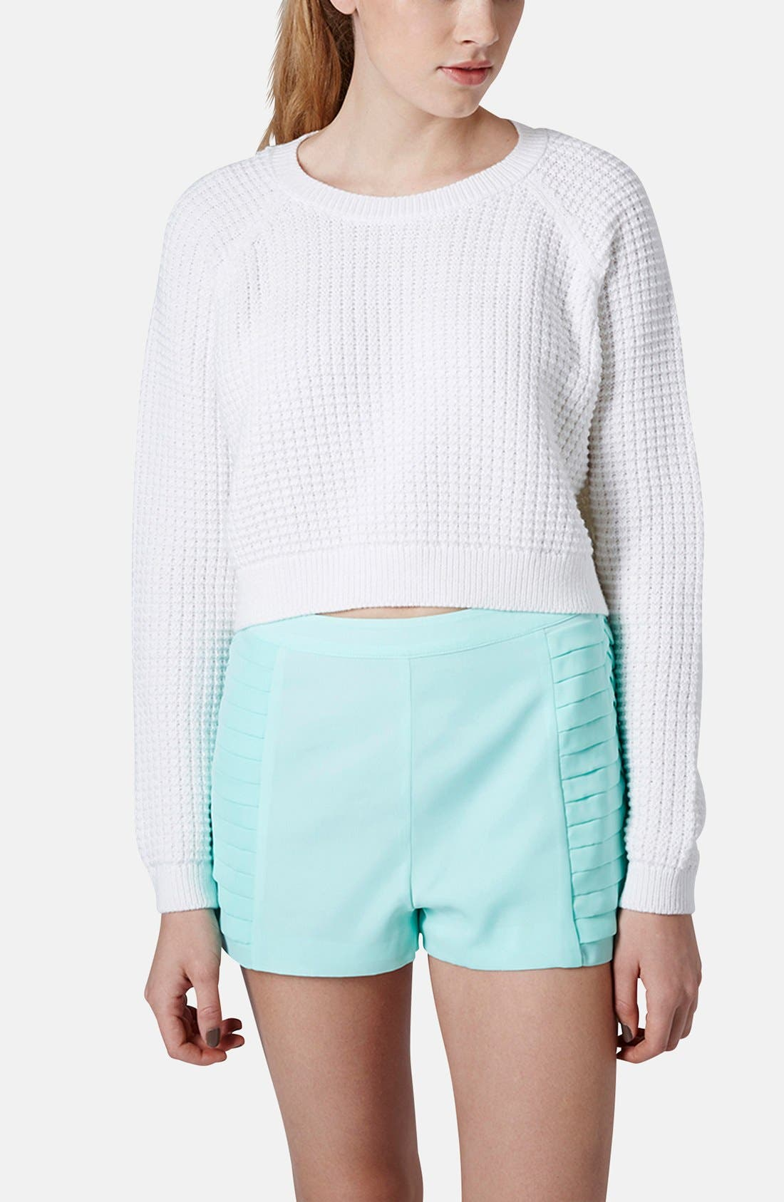 Alternate Image 1 Selected - Topshop 'Fisherman' Crop Sweater