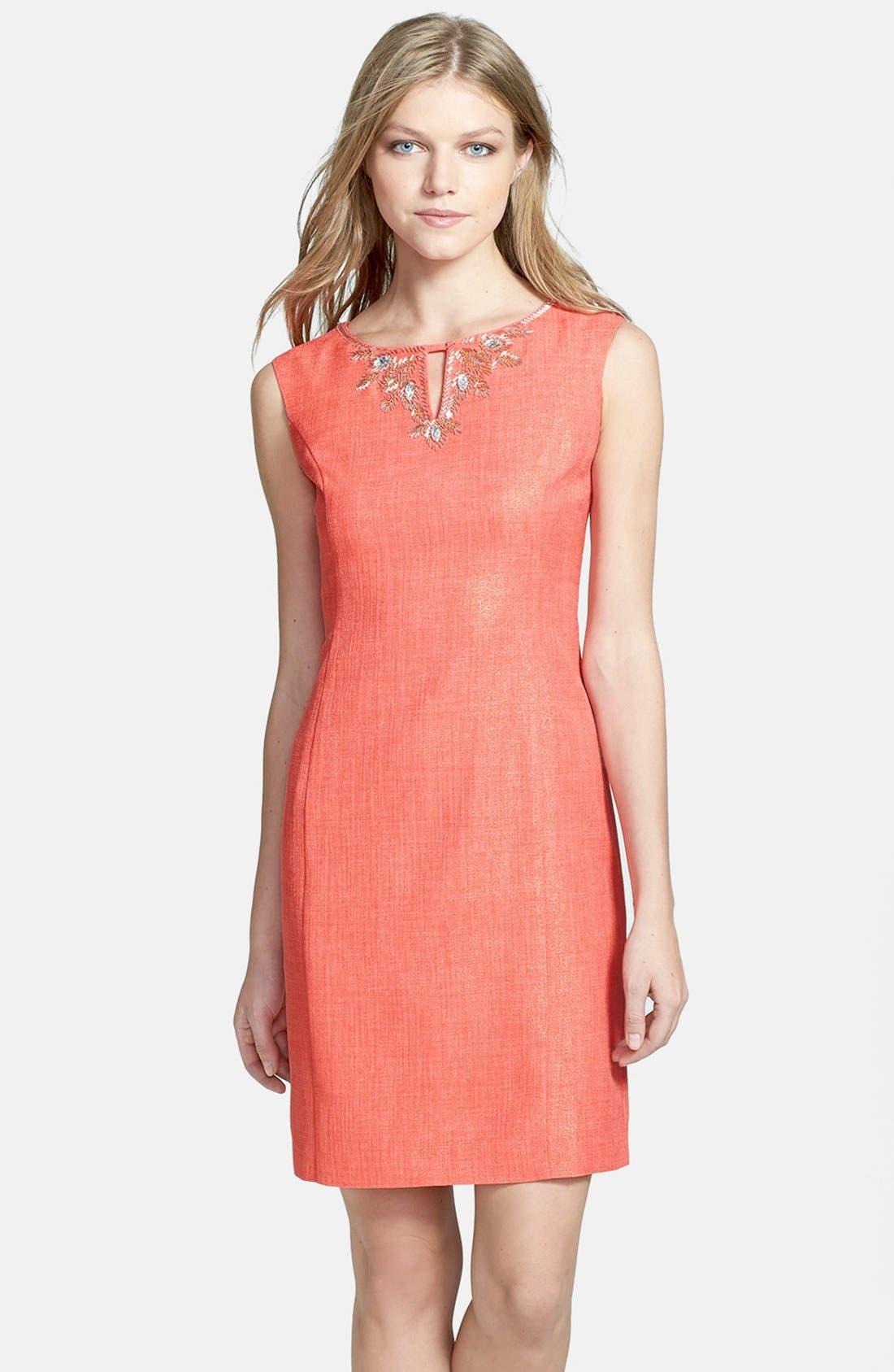 Main Image - Ellen Tracy Foiled Sheath Dress