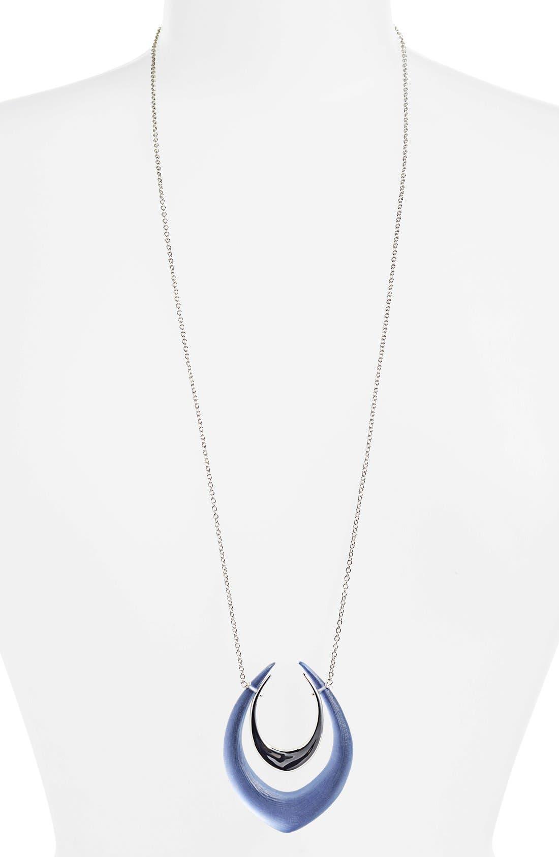 Main Image - Alexis Bittar 'Lucite® - Neon Deco' Long Pendant Necklace