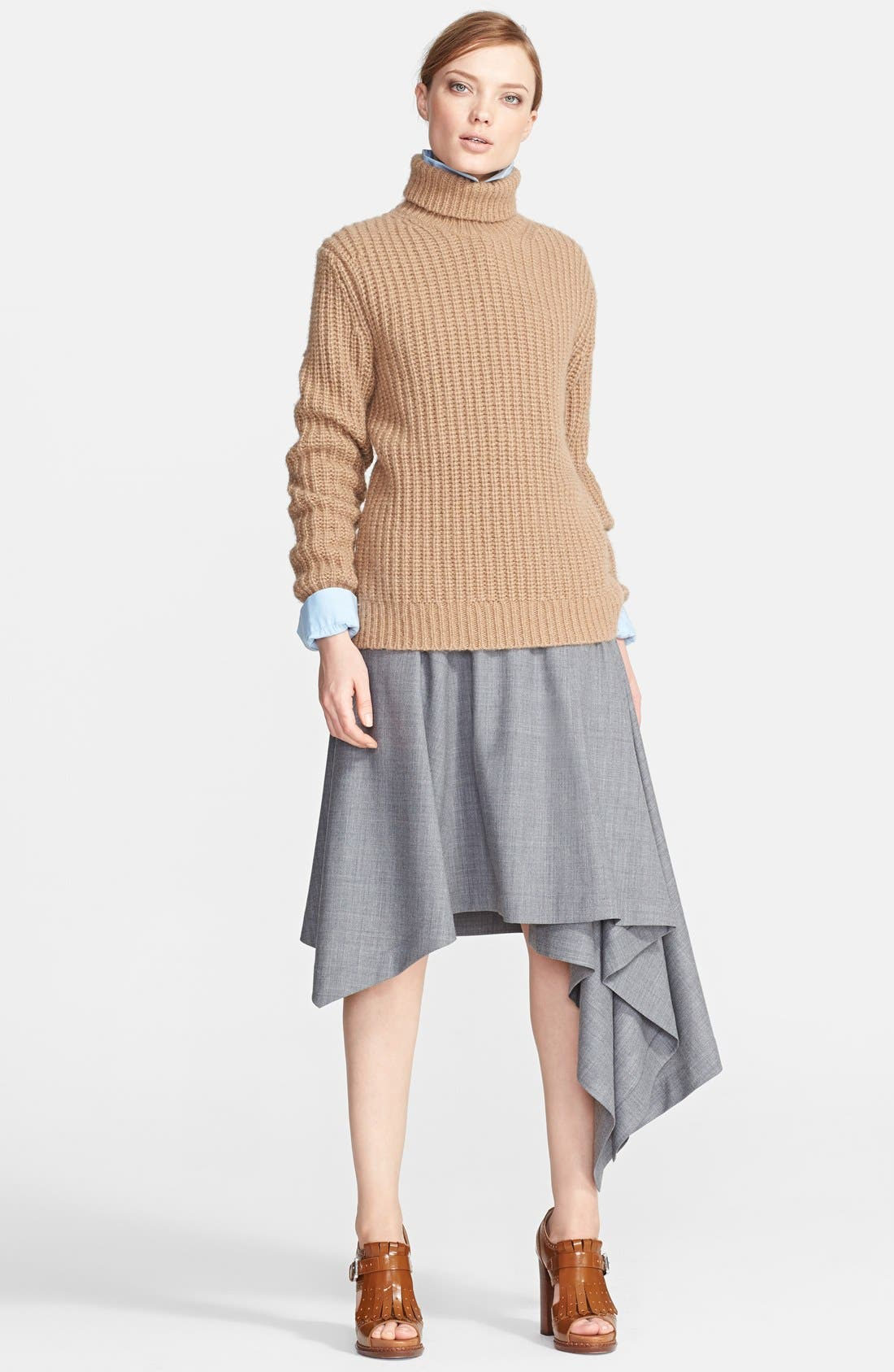Alternate Image 3  - Michael Kors Asymmetrical Hem Tropical Wool Skirt