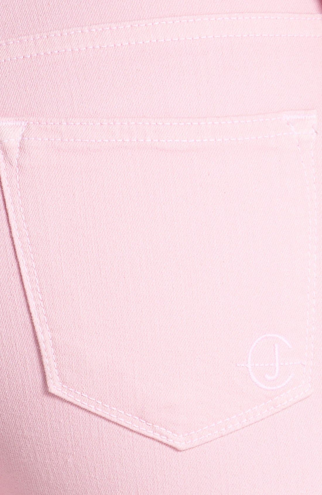 Alternate Image 3  - CJ by Cookie Johnson 'Wisdom' Colored Ankle Skinny Jeans (Pink)