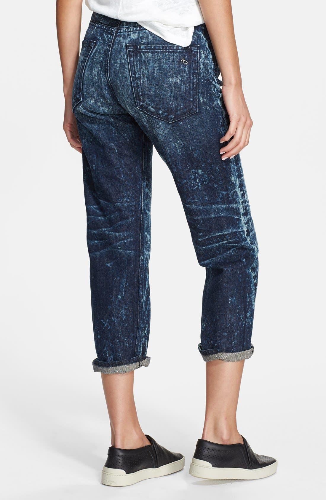 Alternate Image 2  - rag & bone/JEAN 'Marilyn' Crop Jeans (Acid)