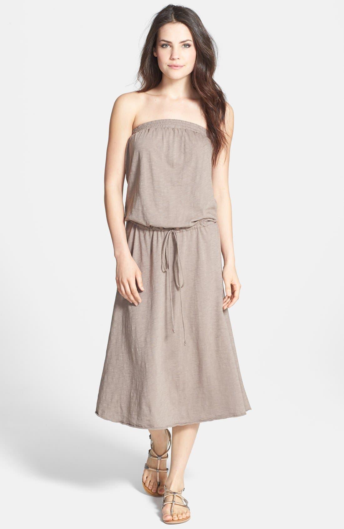 Main Image - Allen Allen Strapless Tube Dress
