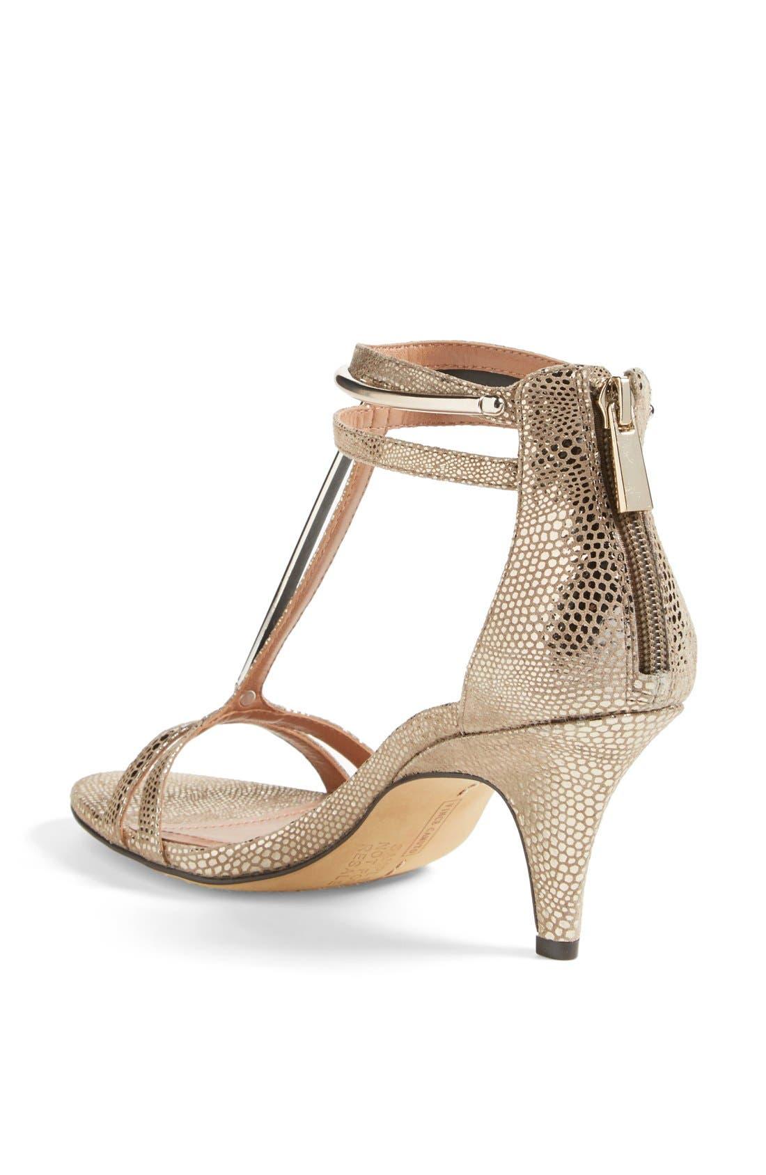 Alternate Image 2  - Vince Camuto 'Mitzy' Metallic T-Strap Sandal (Women)
