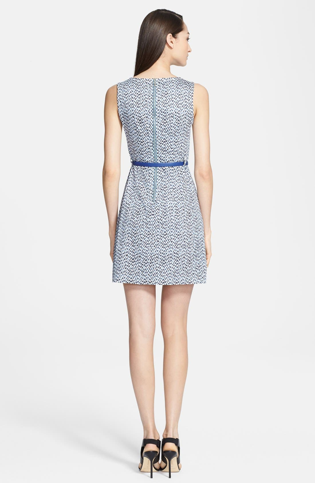 Alternate Image 2  - Armani Collezioni Belted Mosaic Print Dress