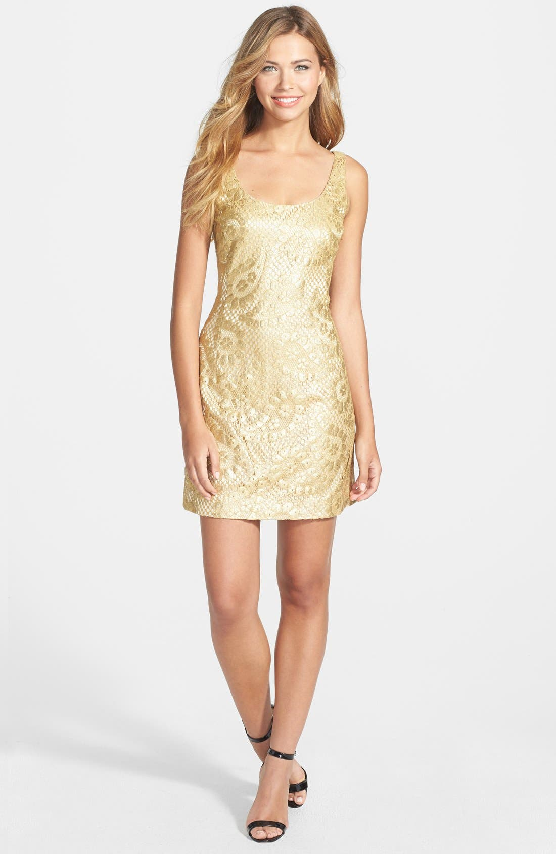 Alternate Image 3  - Lilly Pulitzer® 'Eaton' Metallic Paisley Shift Dress