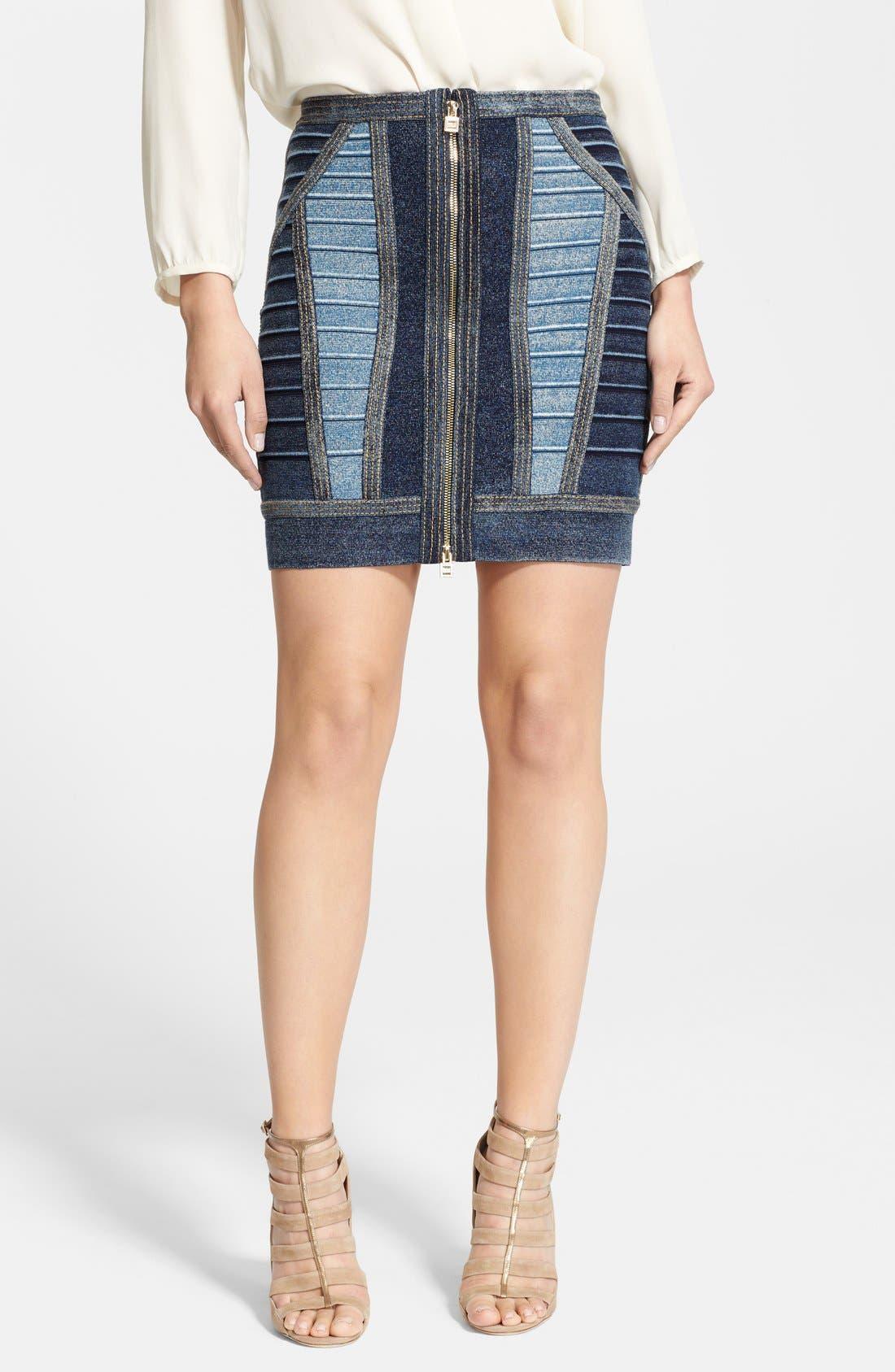 Main Image - Herve Leger Fitted Bandage Miniskirt