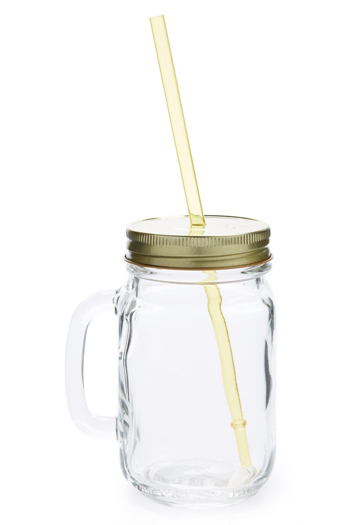 Alternate Image 1 Selected - Ad-N-Art 'Shindig' Glass Mug
