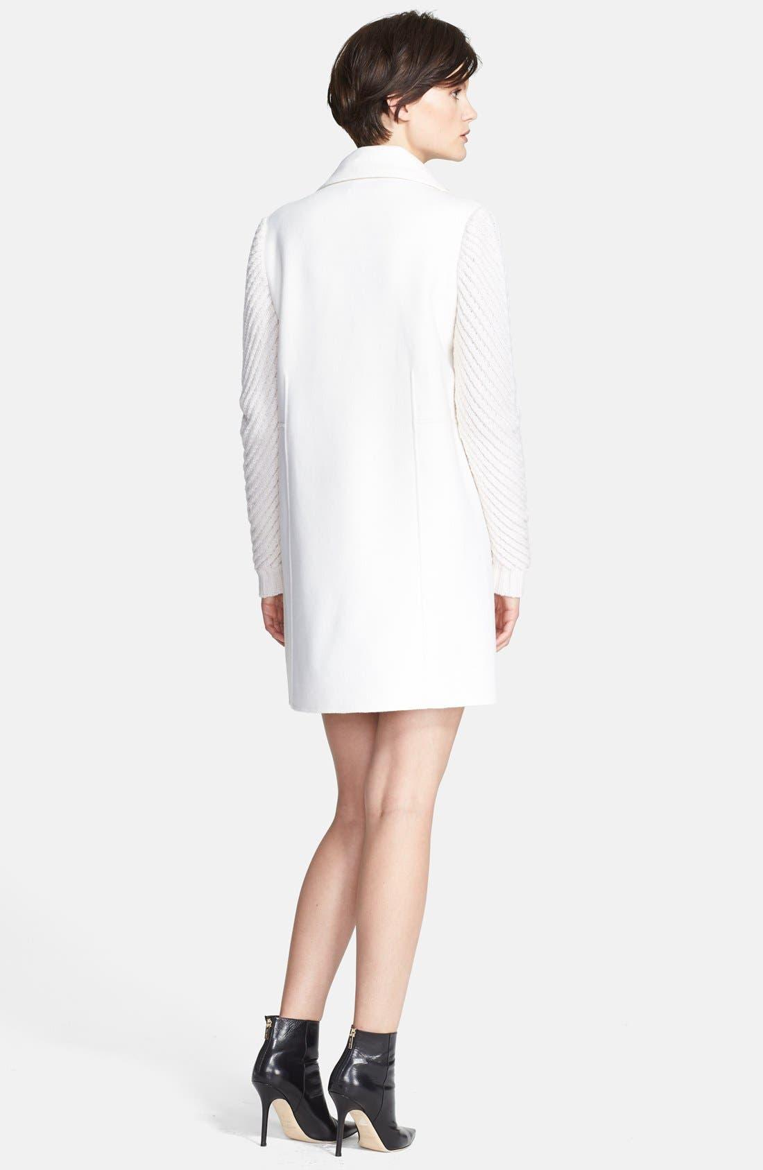 Alternate Image 2  - Vince Sweater Sleeve Wool Blend Coat