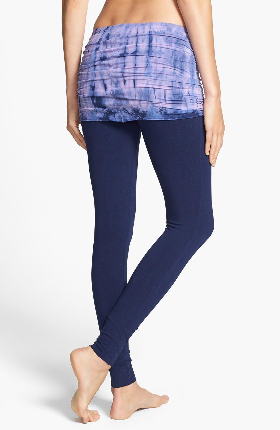 Alternate Image 2  - Omgirl 'Nomad - Mad Plaid' Organic Cotton Foldover Leggings