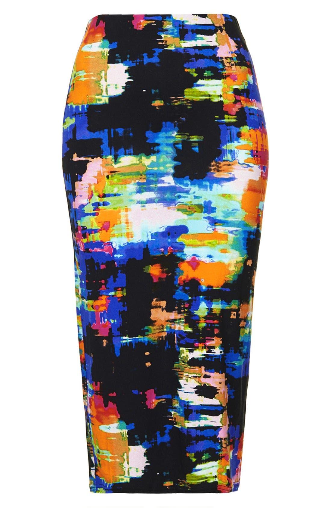 Alternate Image 3  - Topshop Print Tube Skirt