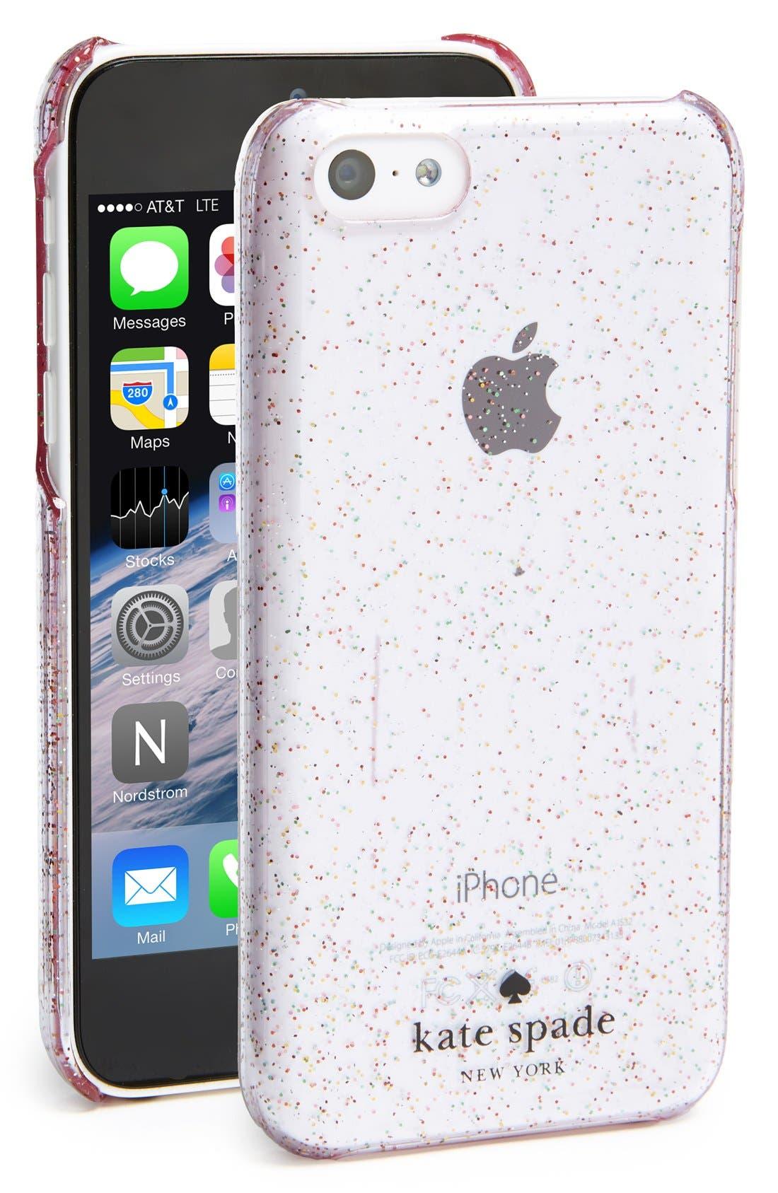 Alternate Image 1 Selected - kate spade new york 'glitter' iPhone 5c case
