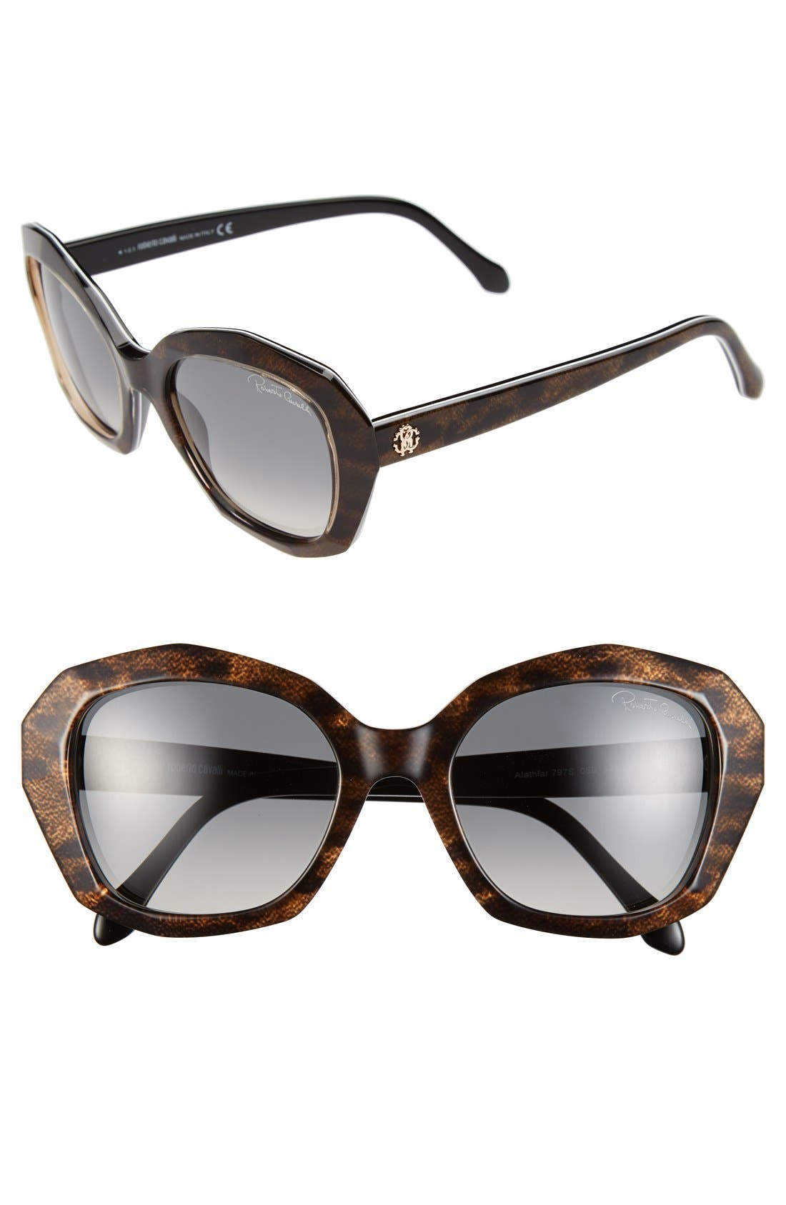 Alternate Image 1 Selected - Roberto Cavalli 'Alathfar' 54mm Sunglasses