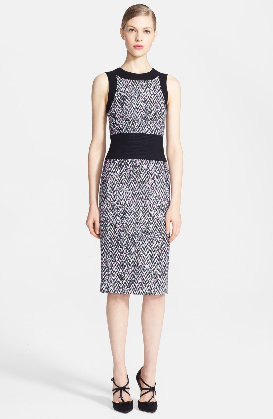 Alternate Image 1 Selected - Oscar de la Renta Tweed Pencil Dress