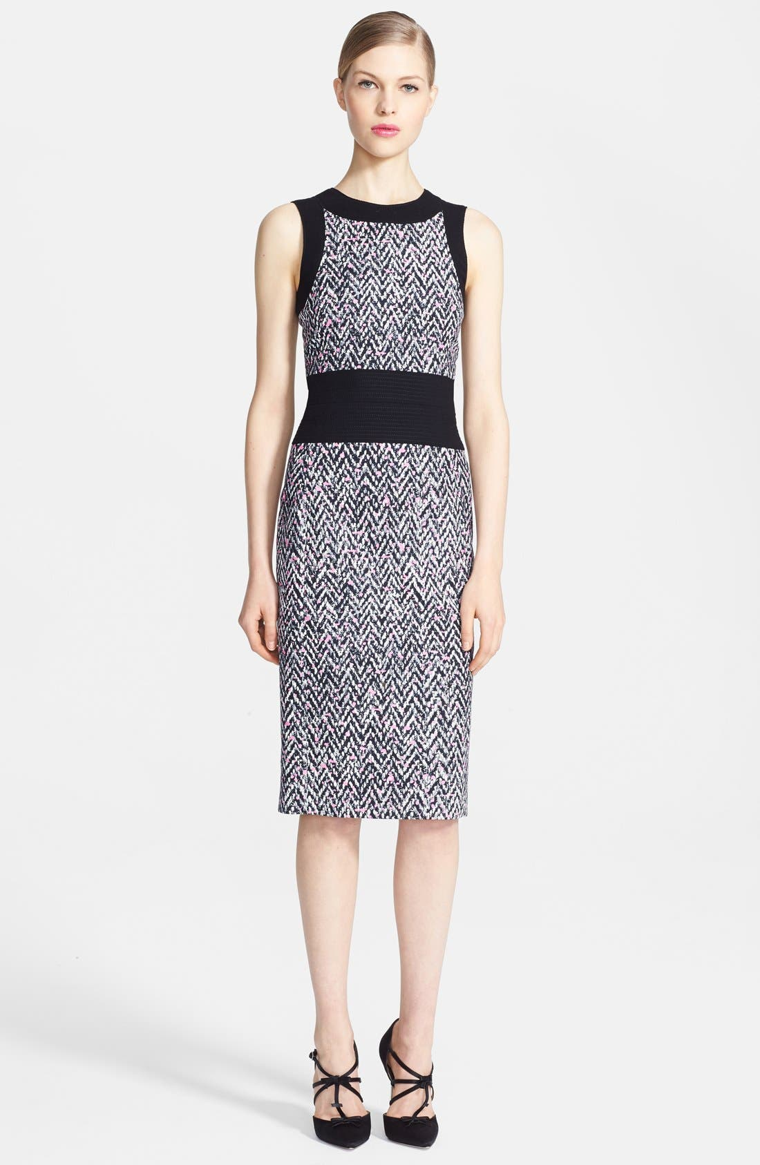 Main Image - Oscar de la Renta Tweed Pencil Dress
