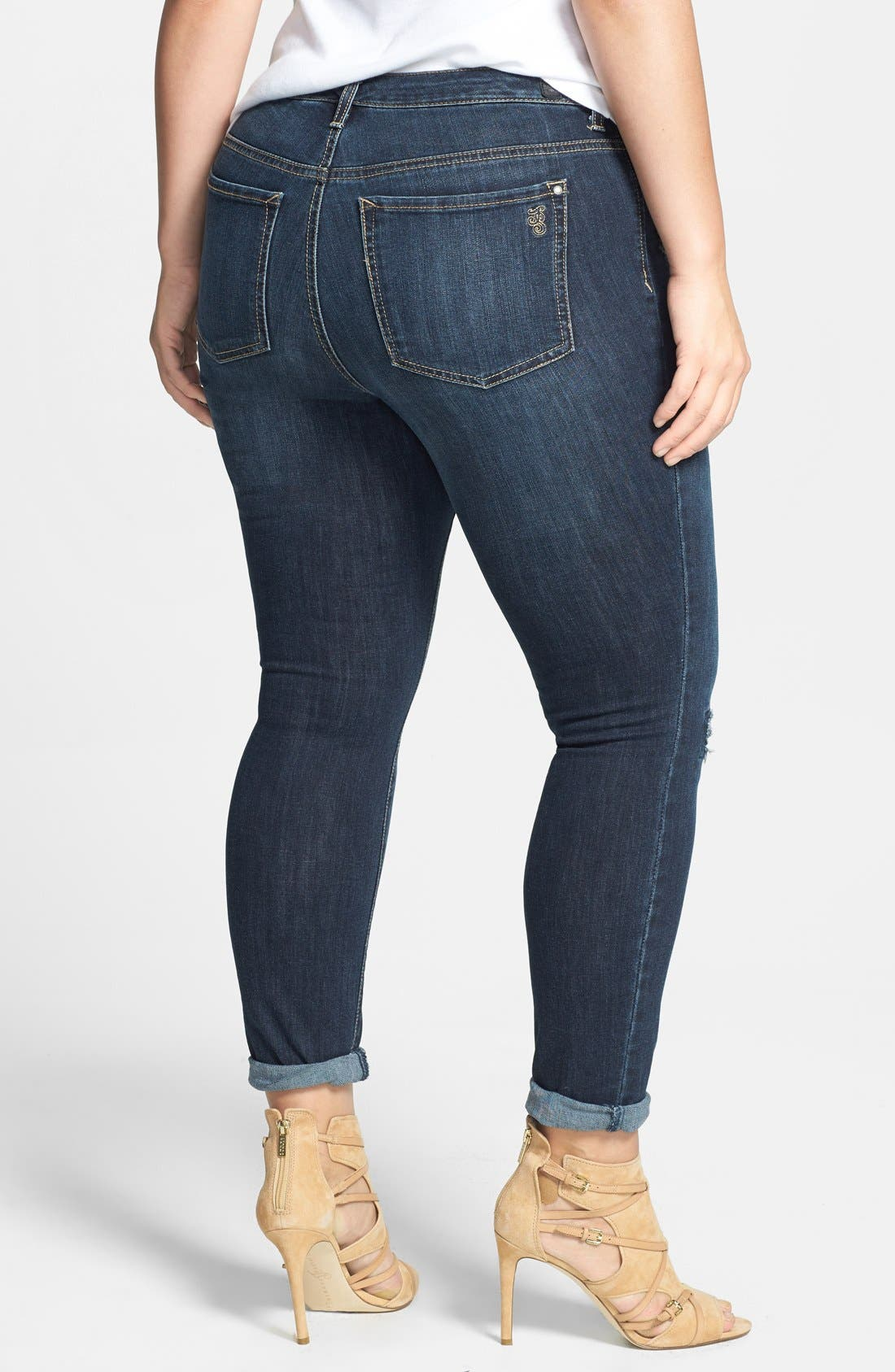 Alternate Image 2  - Jessica Simpson 'Kiss Me' Stretch Skinny Jeans (Plus Size)