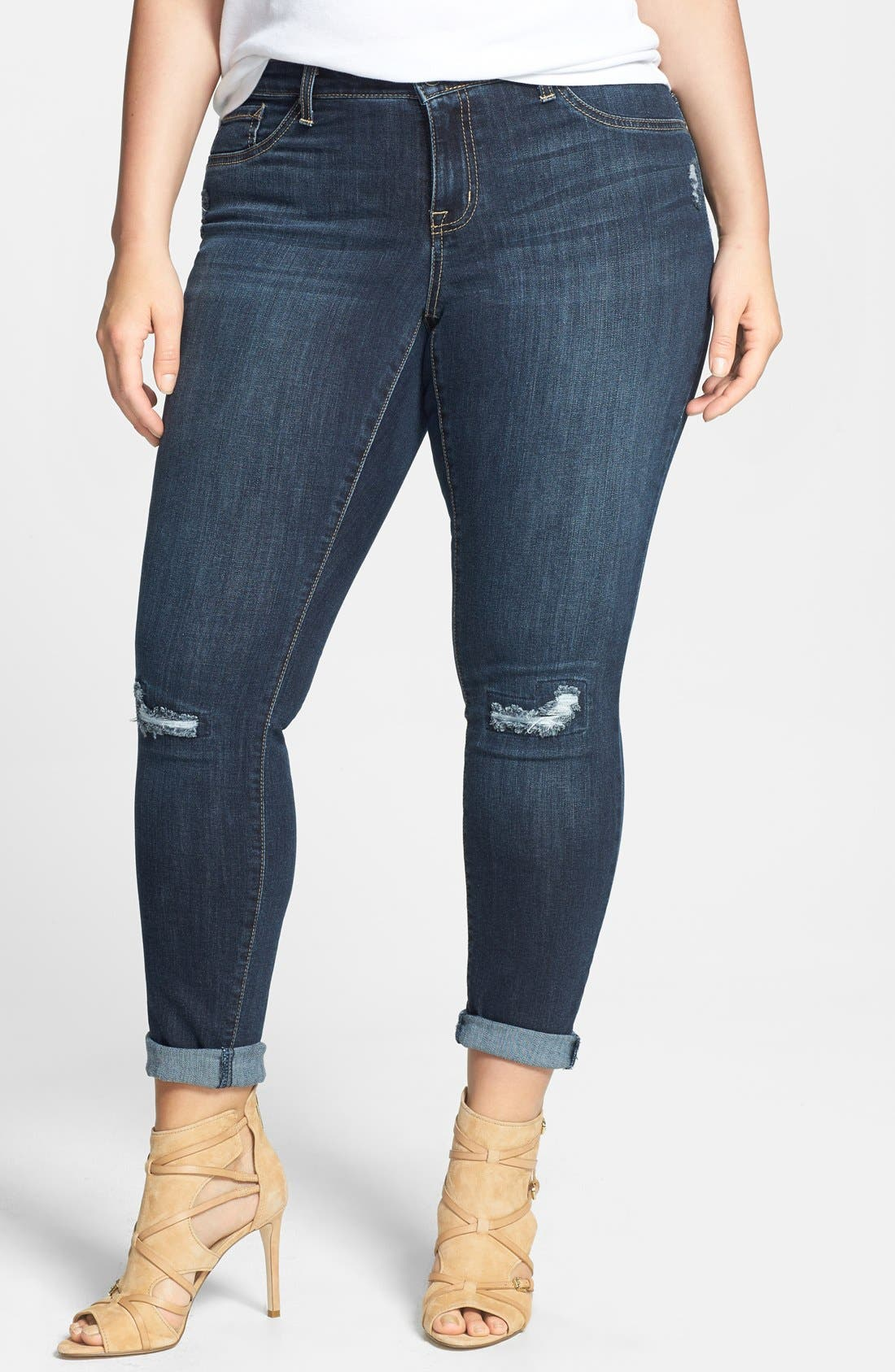 Alternate Image 1 Selected - Jessica Simpson 'Kiss Me' Stretch Skinny Jeans (Plus Size)