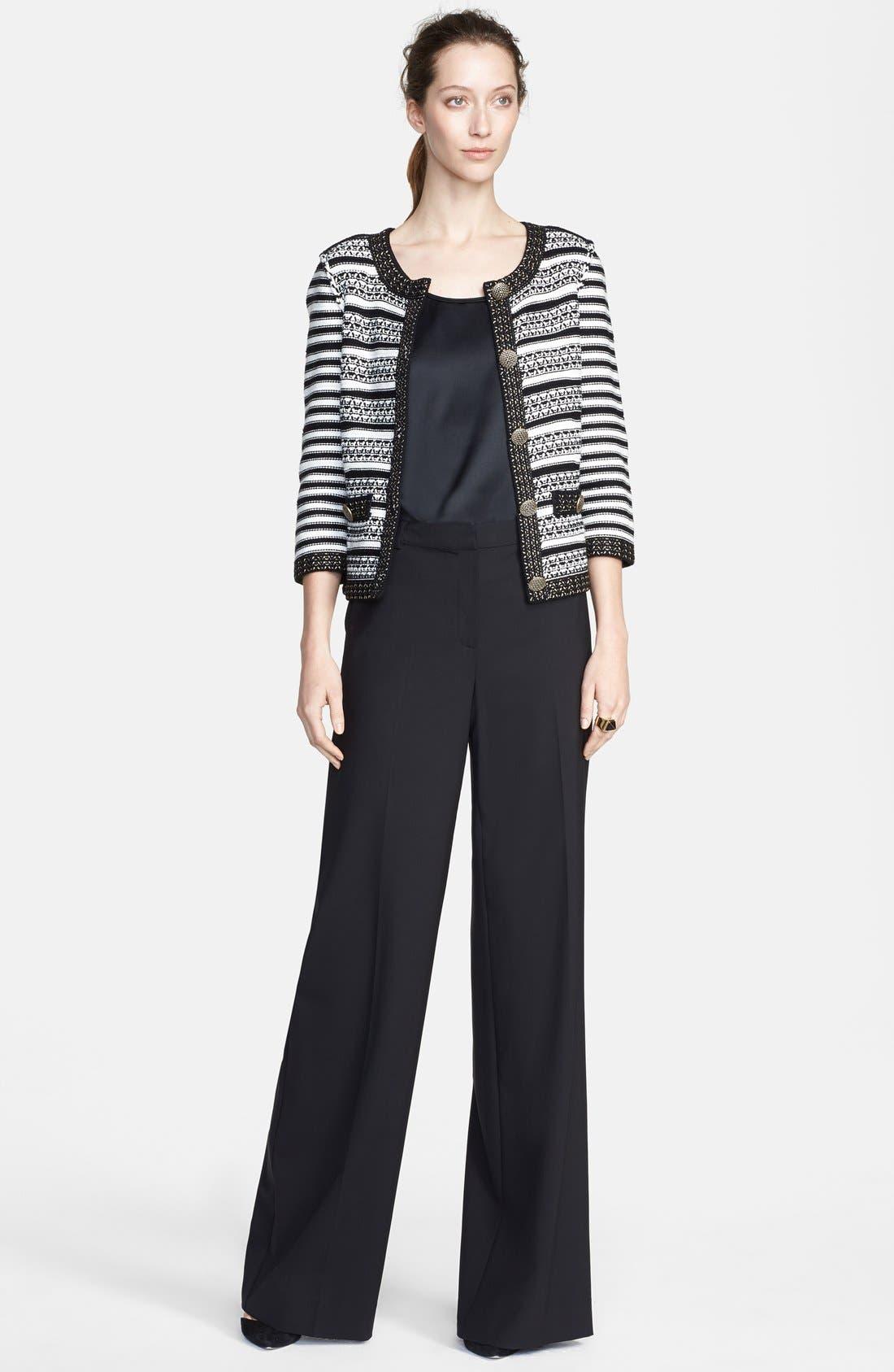 Alternate Image 3  - St. John Collection Stripe Knit Jacket