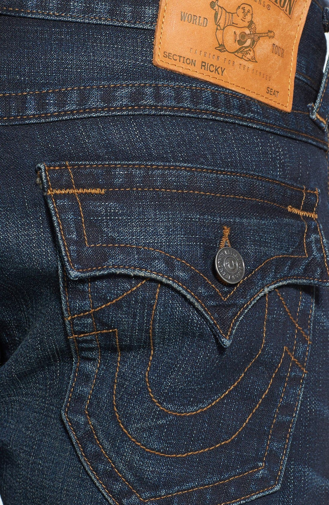 Alternate Image 4  - True Religion Brand Jeans 'Ricky' Relaxed Fit Jeans (Base Notes Blue)