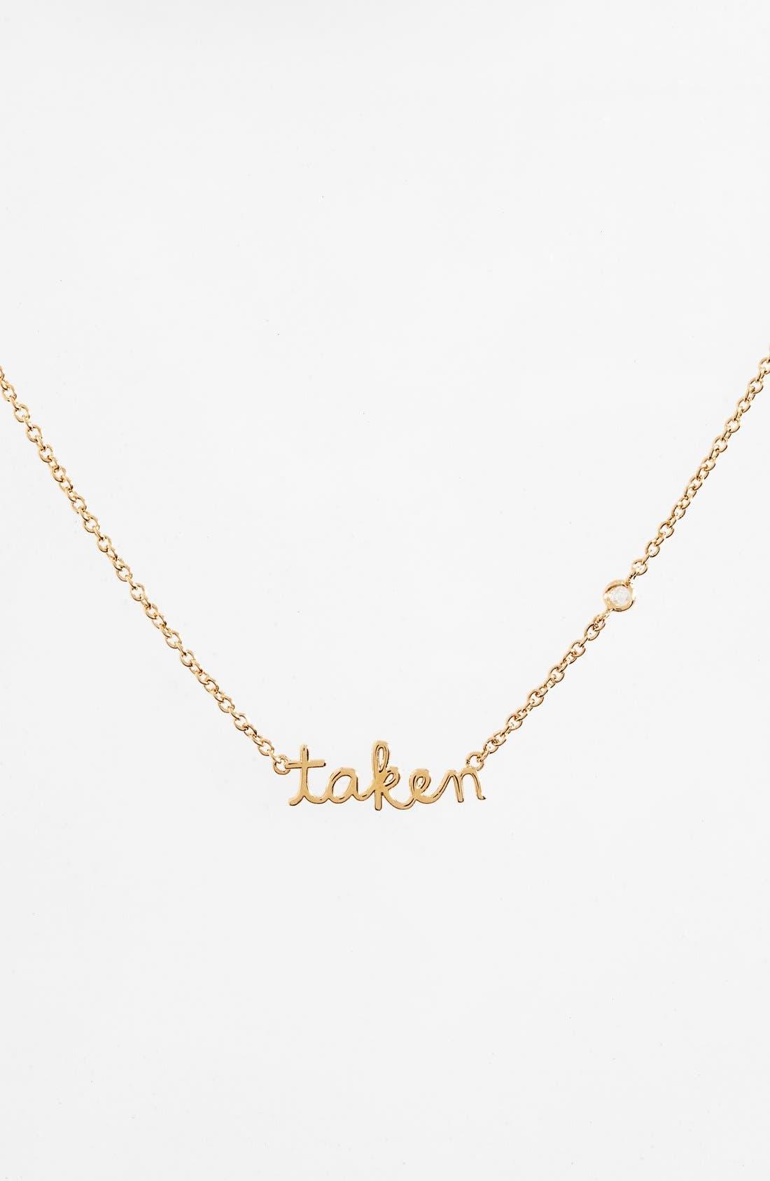 Taken Necklace,                         Main,                         color, Gold