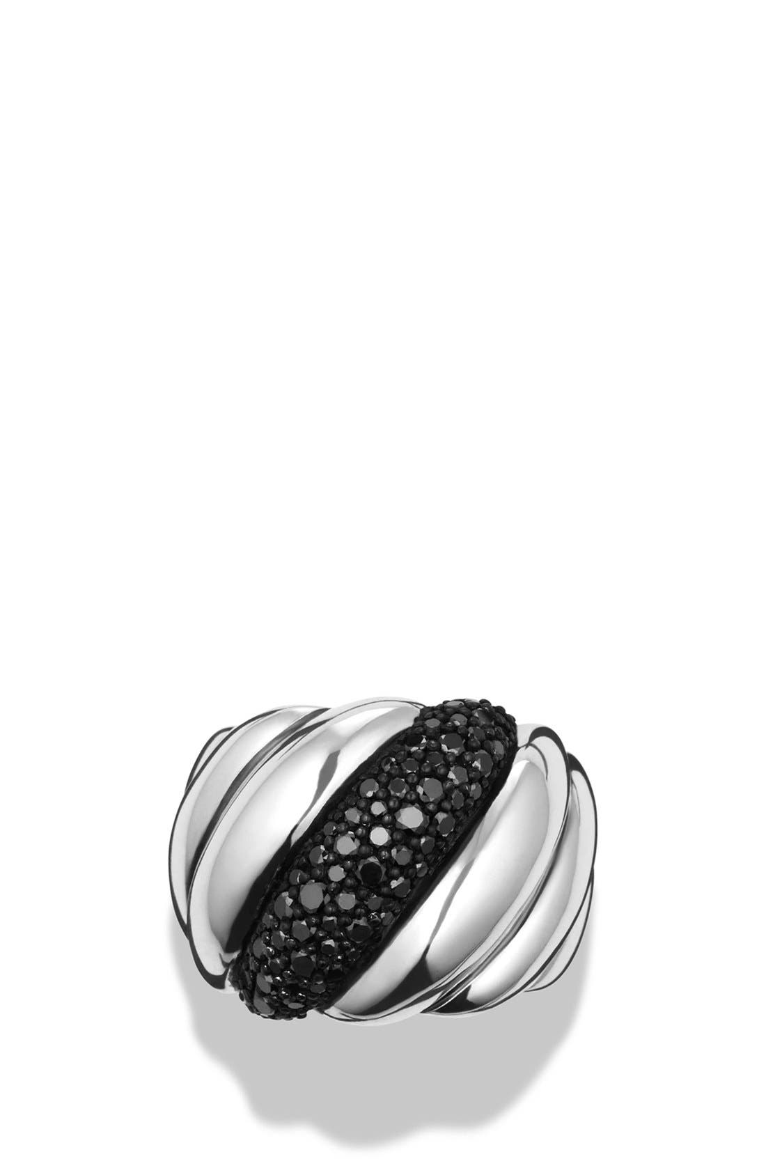 Alternate Image 3  - David Yurman 'Hampton Cable' Ring with Gray Diamonds and Blue Sapphires